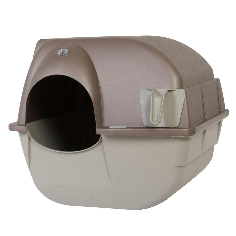 Omega Paw Cat Litter Box Size 17l X 20w X 18h Beige