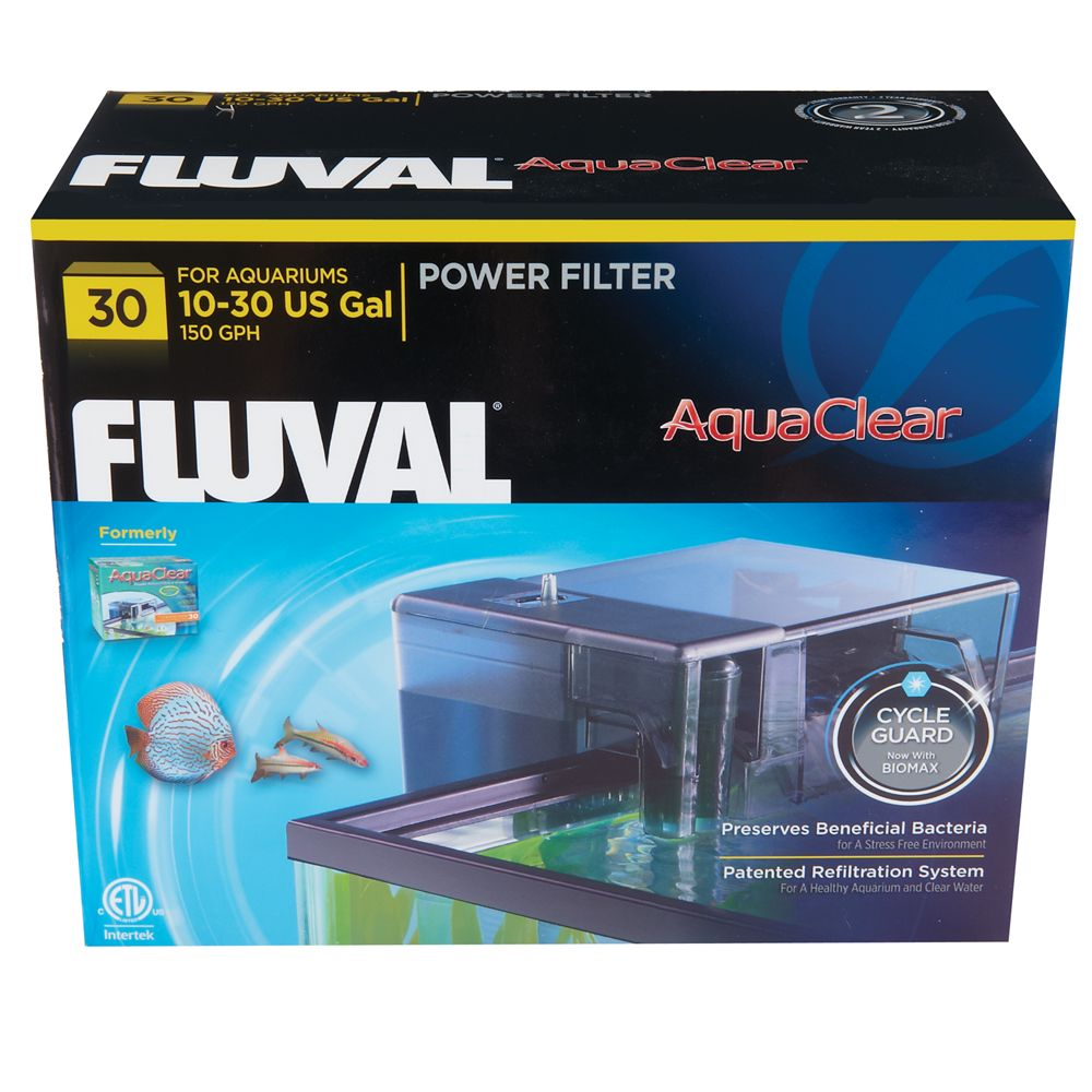 Aqua Clear Fluval Power Filter Size 30 Gal