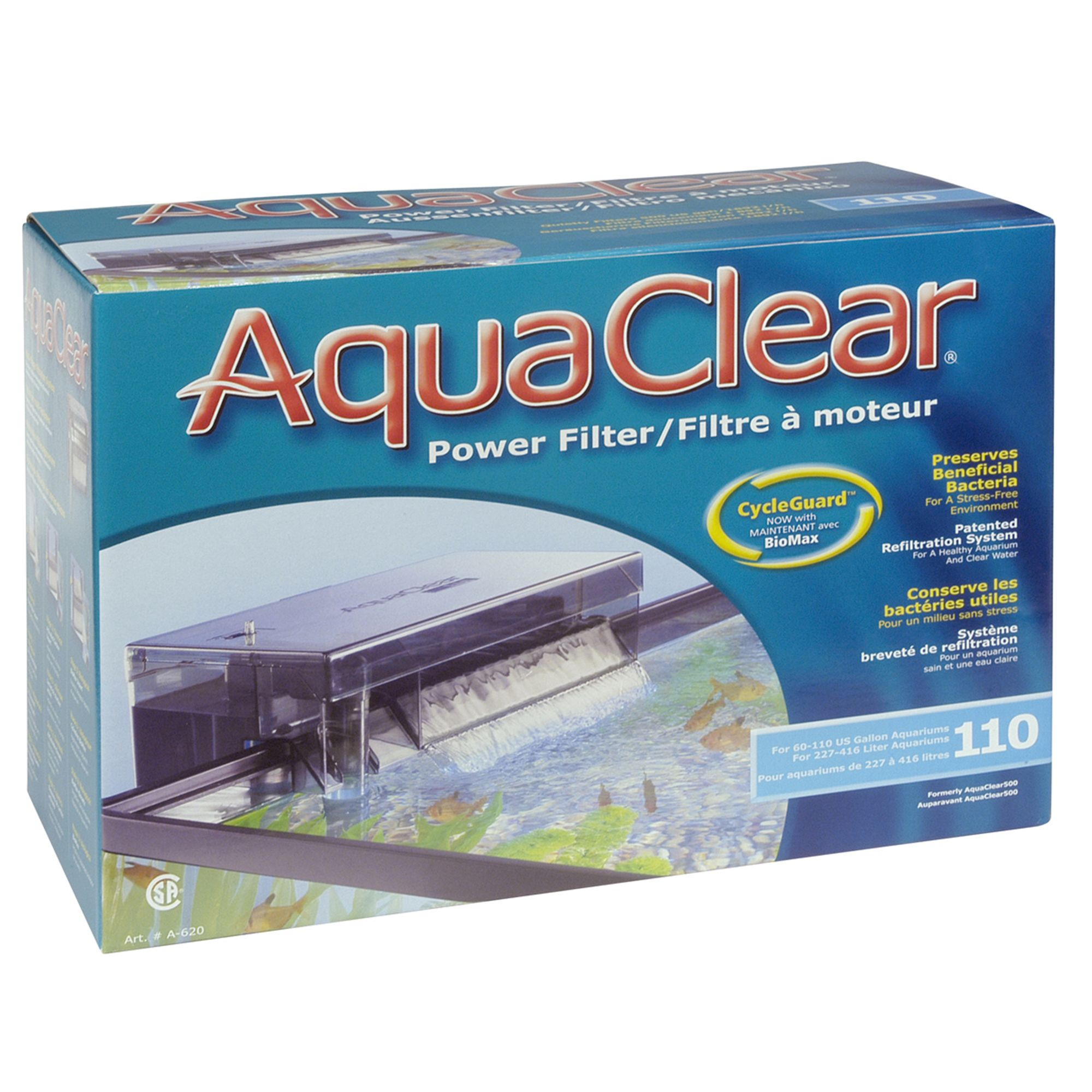 Aqua Clear Fluval Power Filter Size 110 Gal