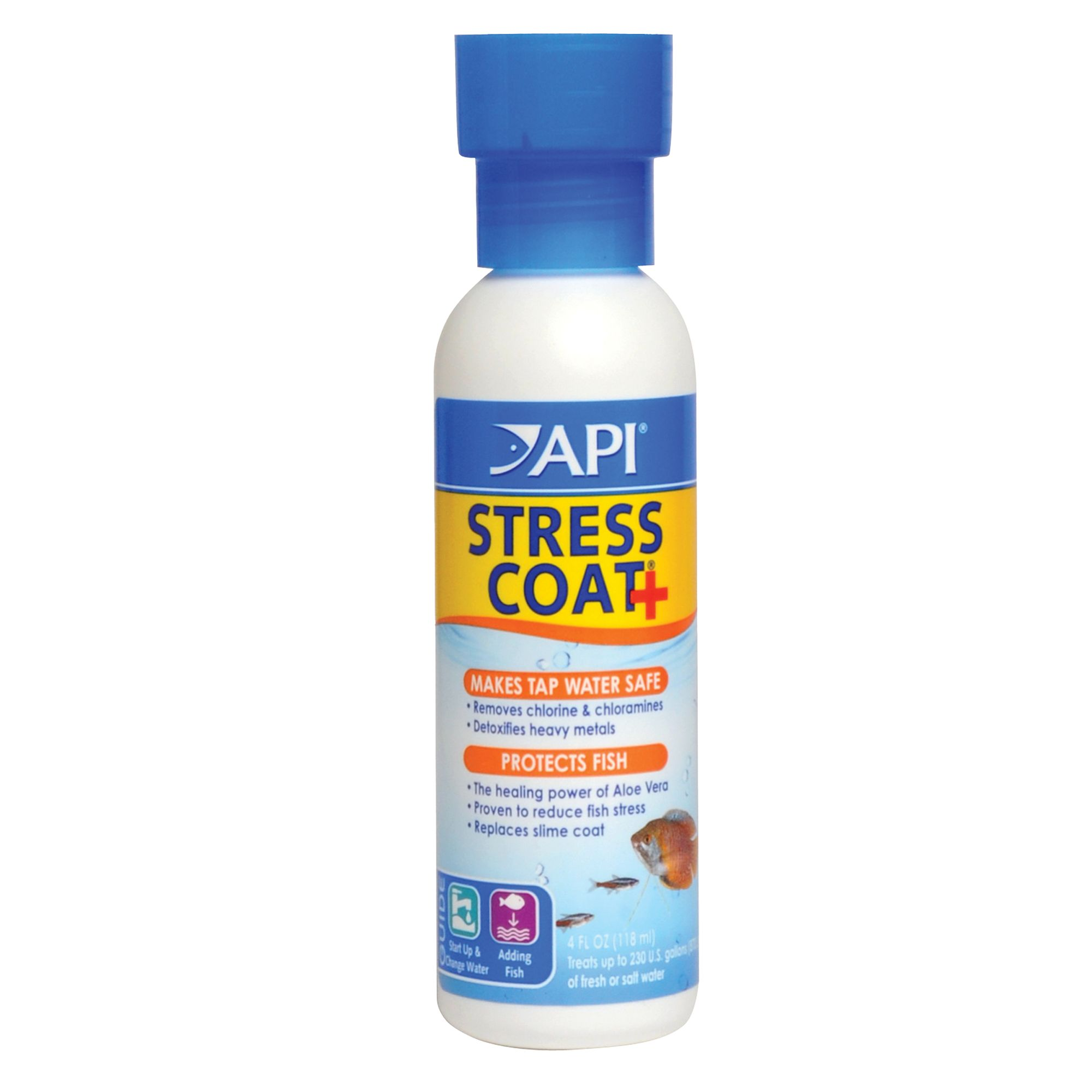 Api Stress Coat Tap Water Aquarium Conditioner Size 4 Fl Oz