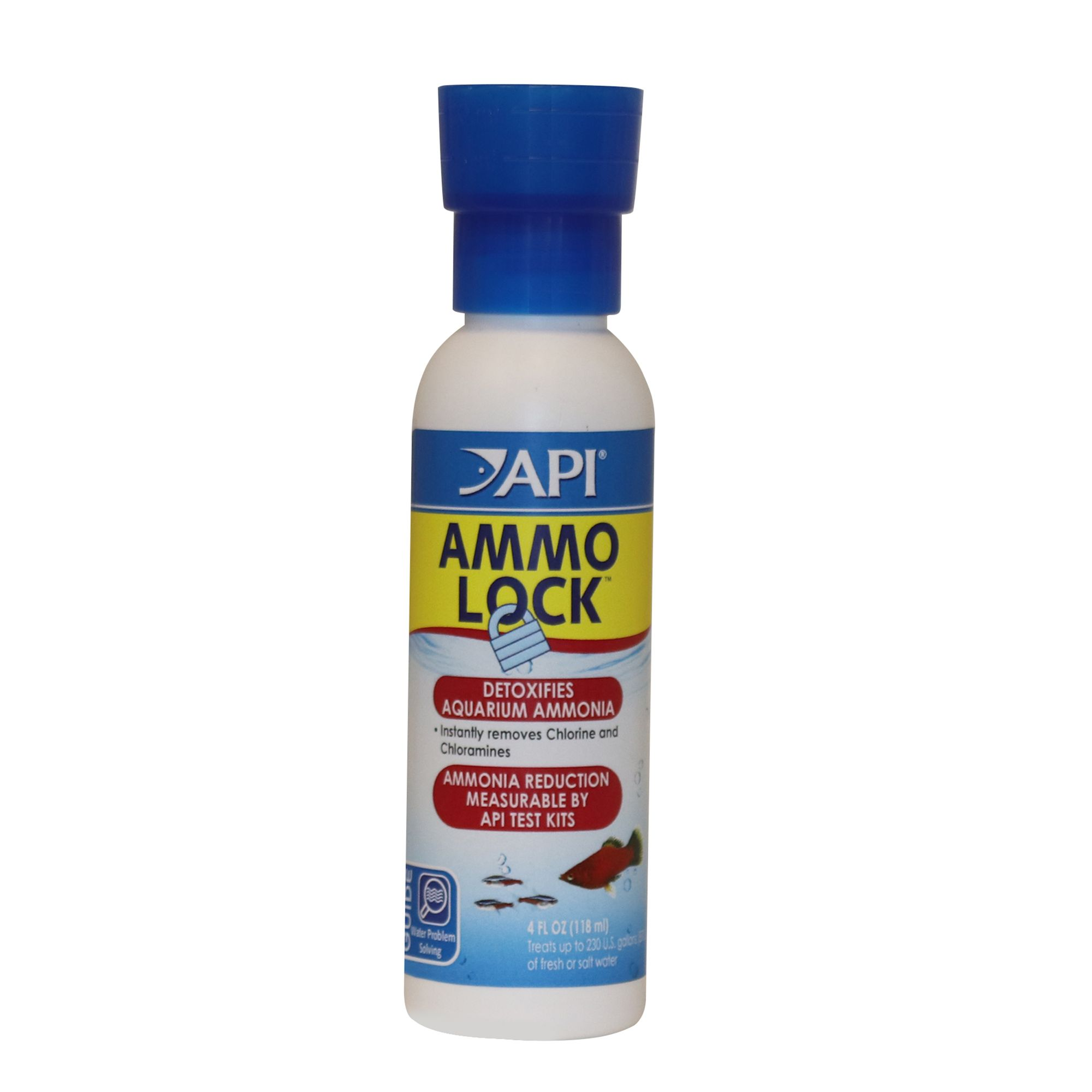 Api Ammo Lock Ammonia Remover Aquarium Water Conditioner Size 4 Fl Oz