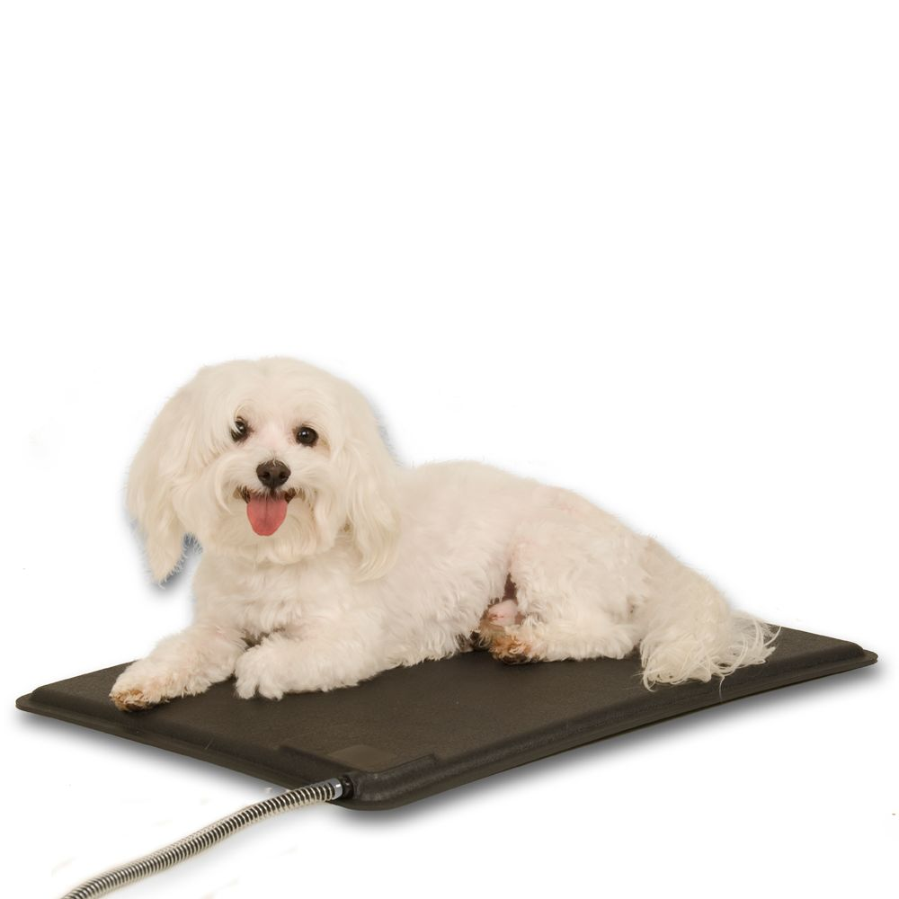 Kandh Lectro Kennel Heated Pet Pad Size 12.5l X 18.5w Black K H