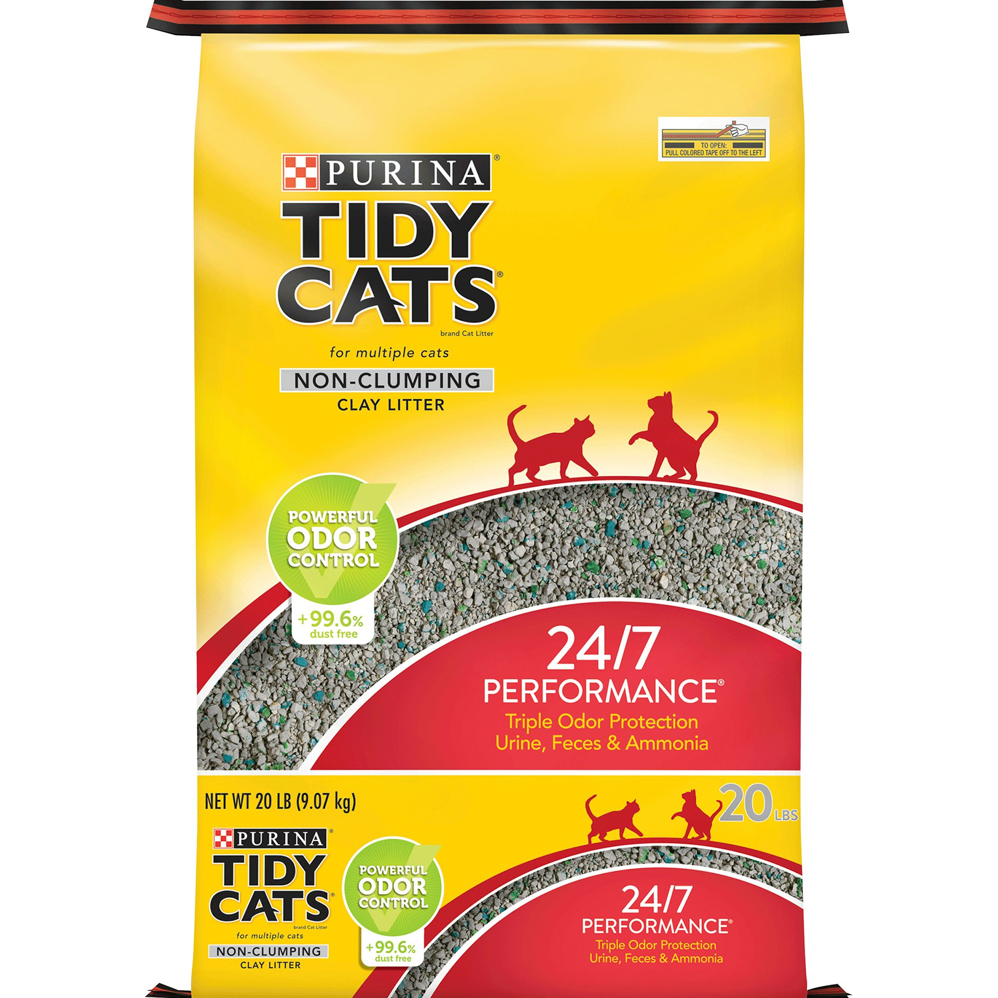 Purina Tidy Cats 24/7 Performance Cat Litter Non Clumping Multi Cat Size 20 Lb