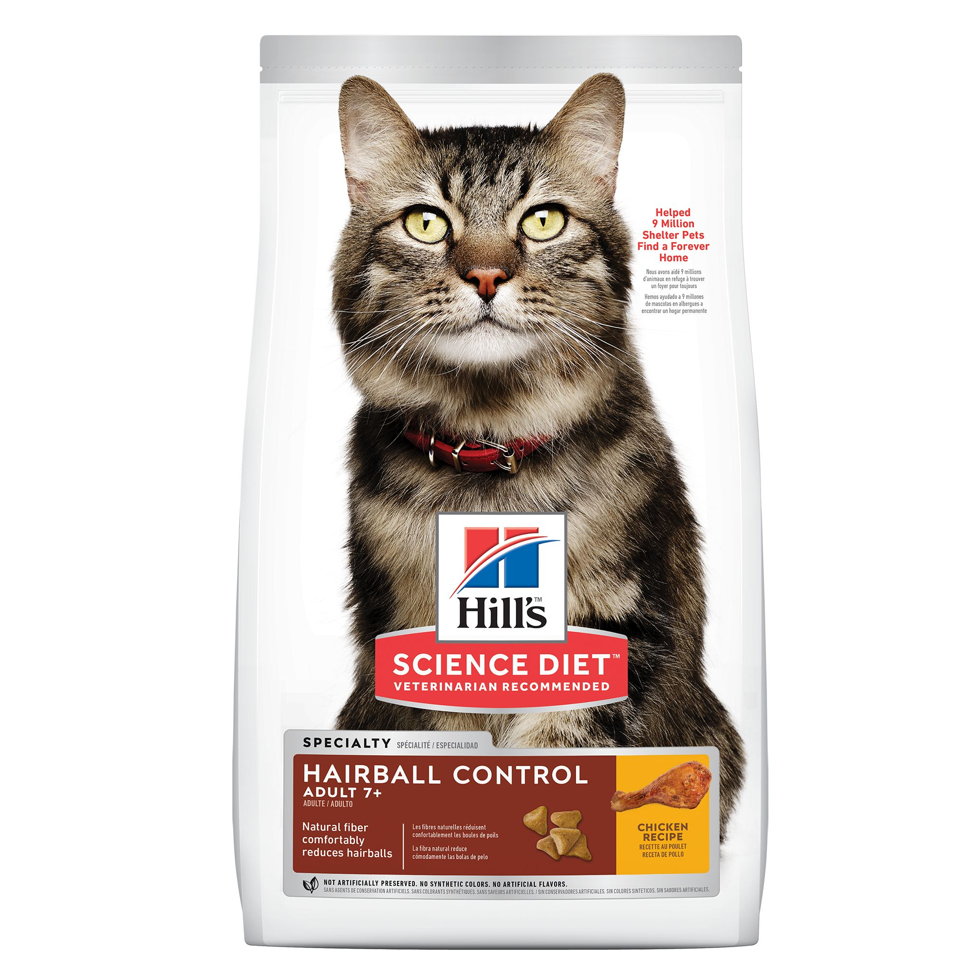 Hill's® Science Diet® Hairball Control Senior Cat Food - Chicken 5002975
