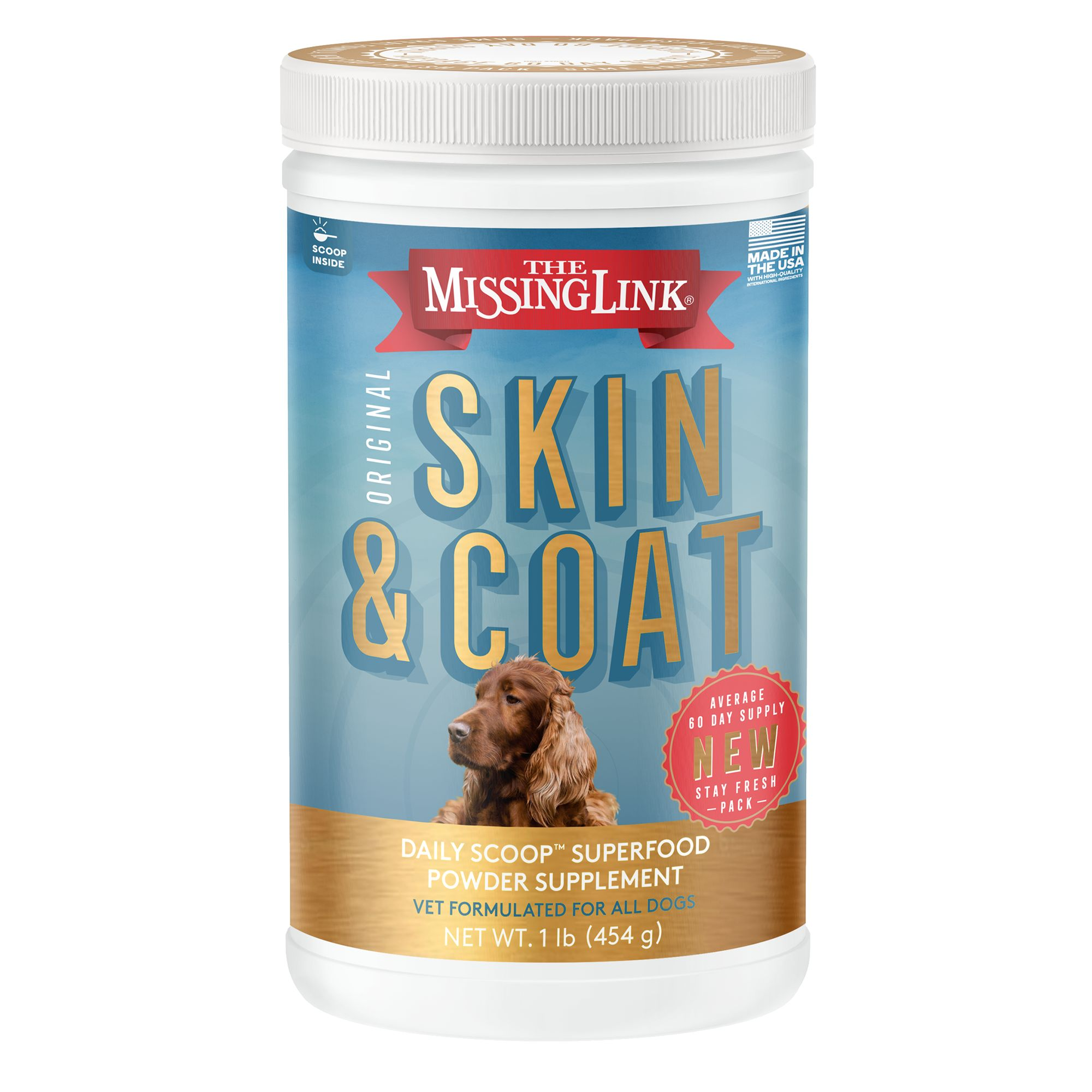 The Missing Link Skin And Coat Dog Food Supplement Size 1 Lb