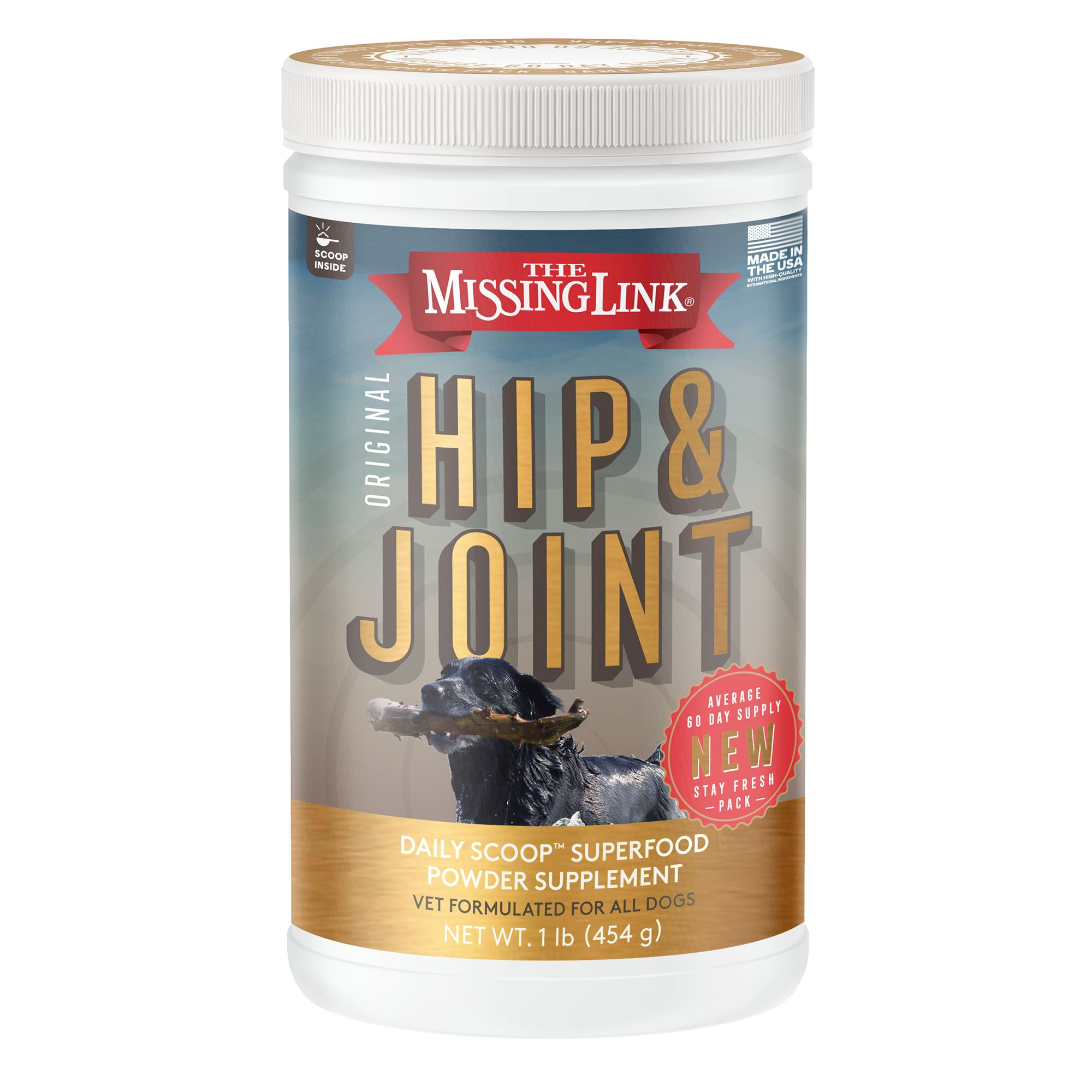 The Missing Link Hip And Joint Dog Food Supplement Size 1 Lb