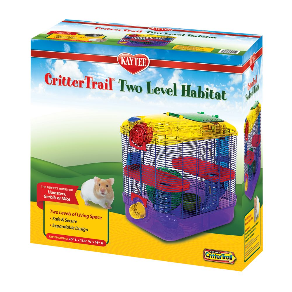 Kaytee CritterTrail Two Level Habitat, Multi-Color, Super Pet 5014479