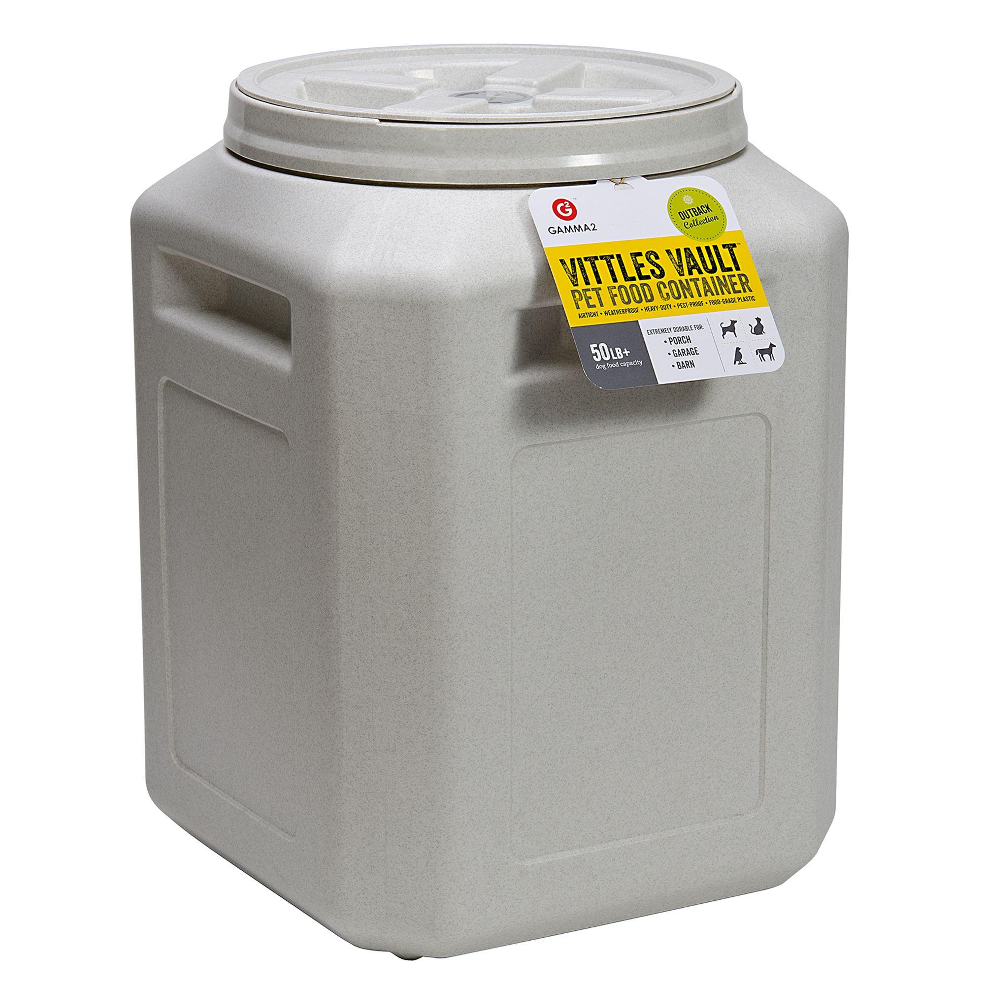 Vittle Vault Pet Food Container Size 50 Lb White