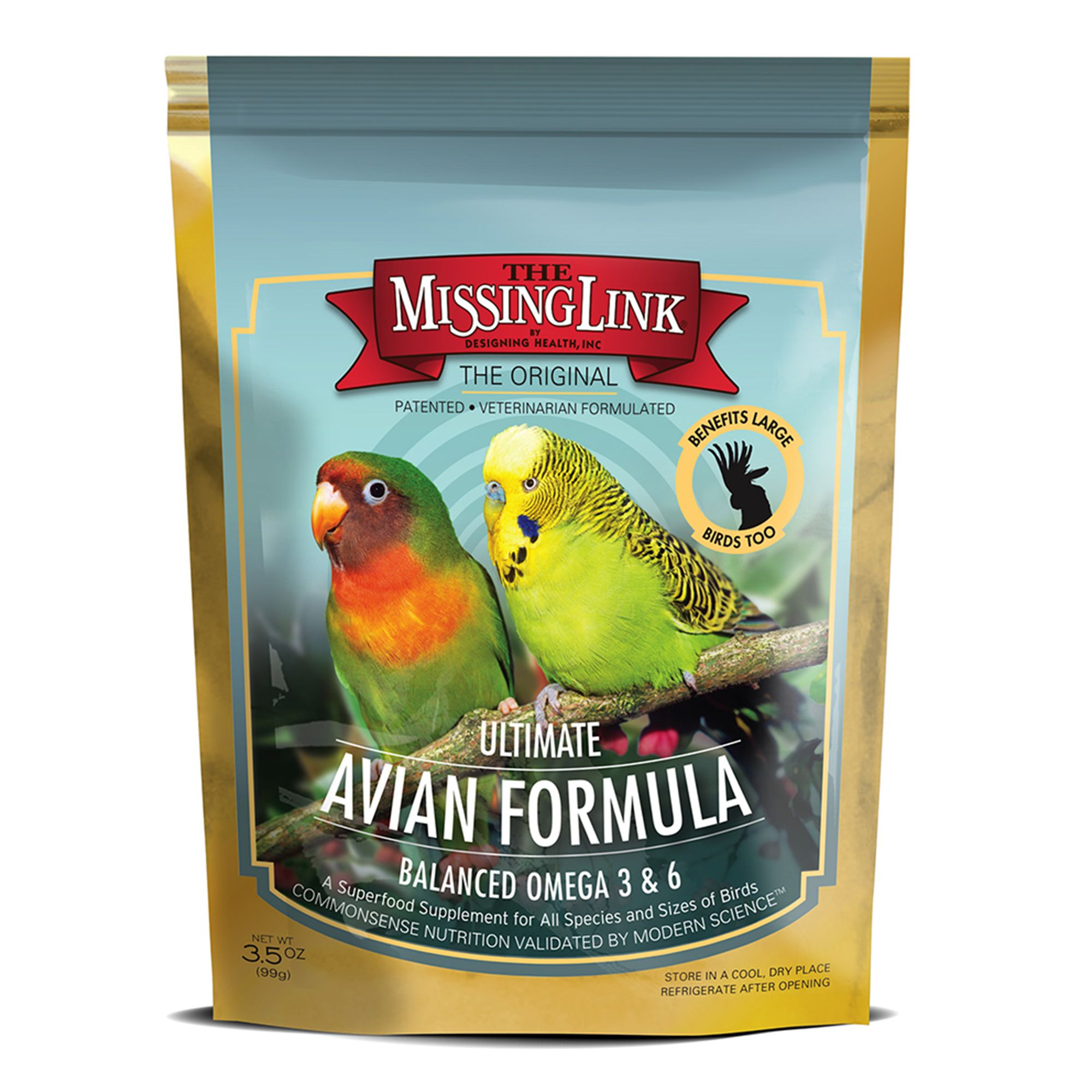 The Missing Link Ultimate Avian Formula Bird Food Supplement Size 3.5 Oz