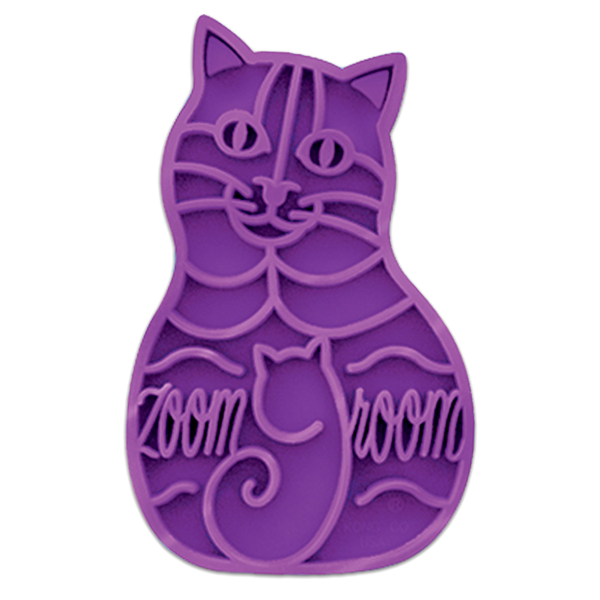 Kong ZoomGroom Cat Brush size: Small/Medium/Large, Purple 5017343