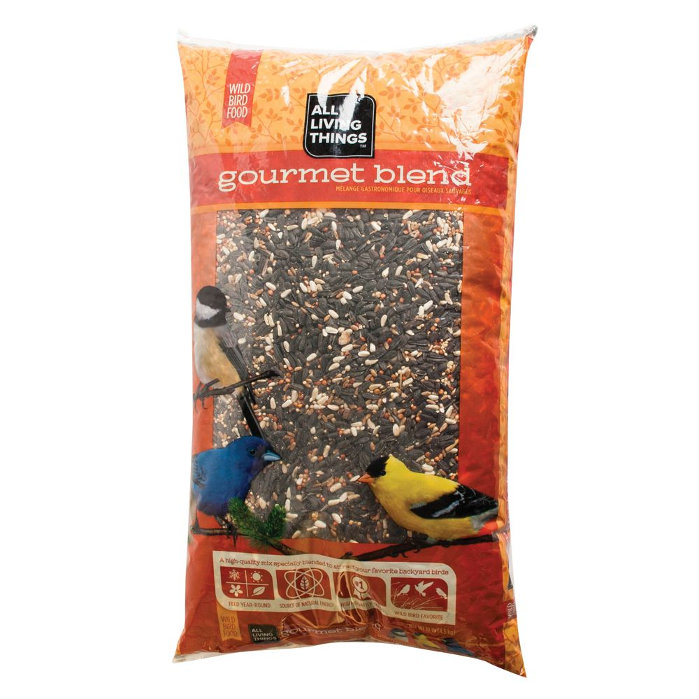 All Living Things Gourmet Blend Wild Bird Food size: 10 Lb, Mix; grains and seeds, All stages, Proso Millet 5018159