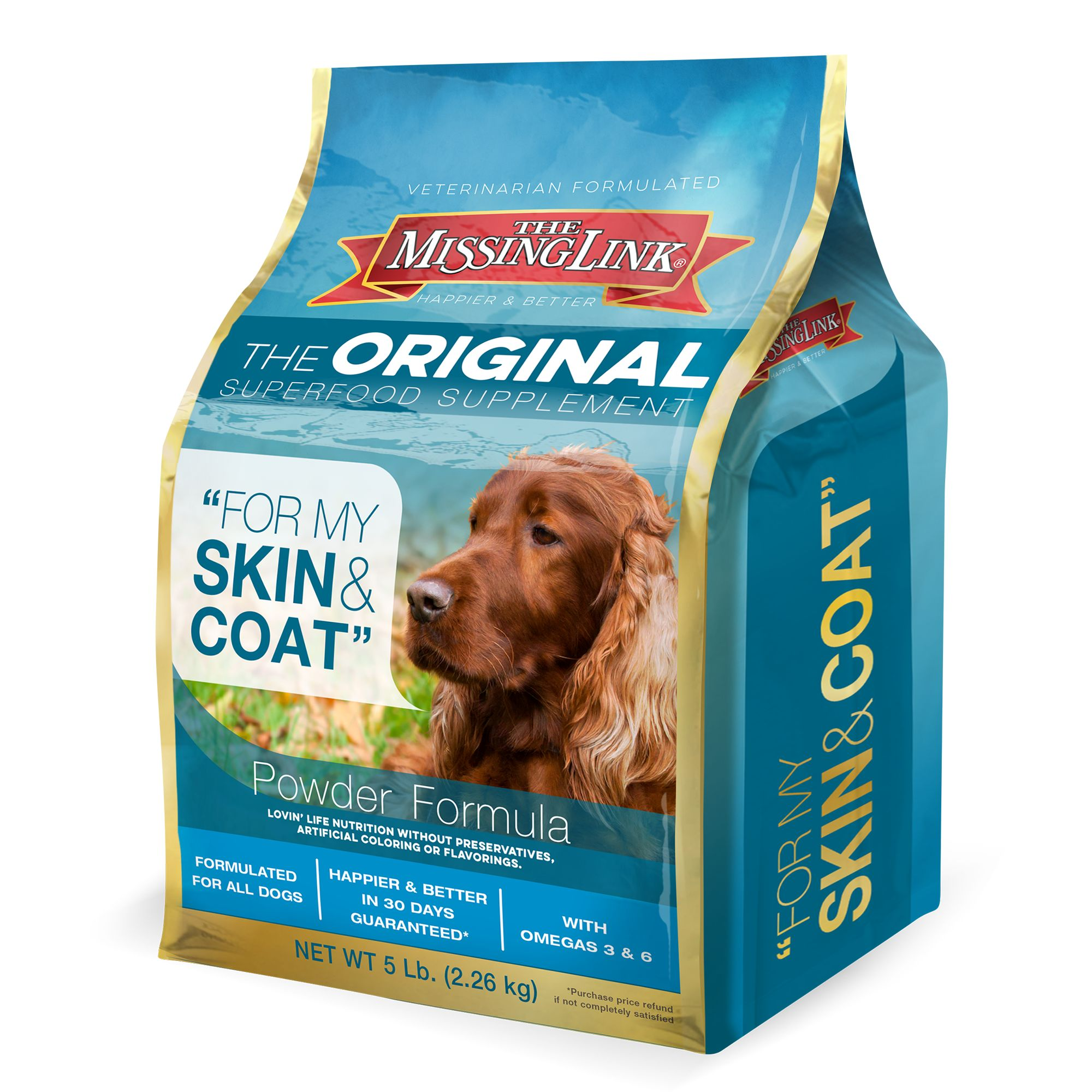 The Missing Link Skin And Coat Dog Food Supplement Size 5 Lb