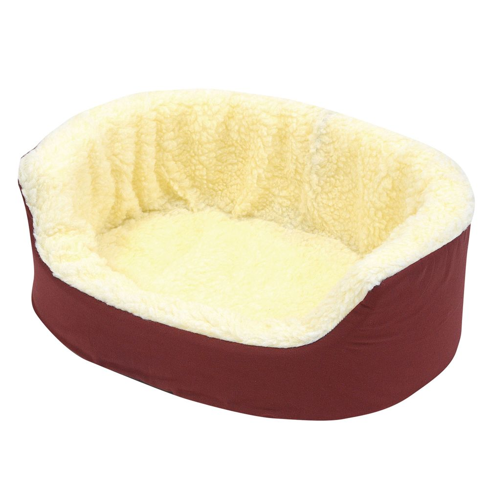 Canine Cushion Orthopedic Fleece Dog Bed Size 21l X 16w Red