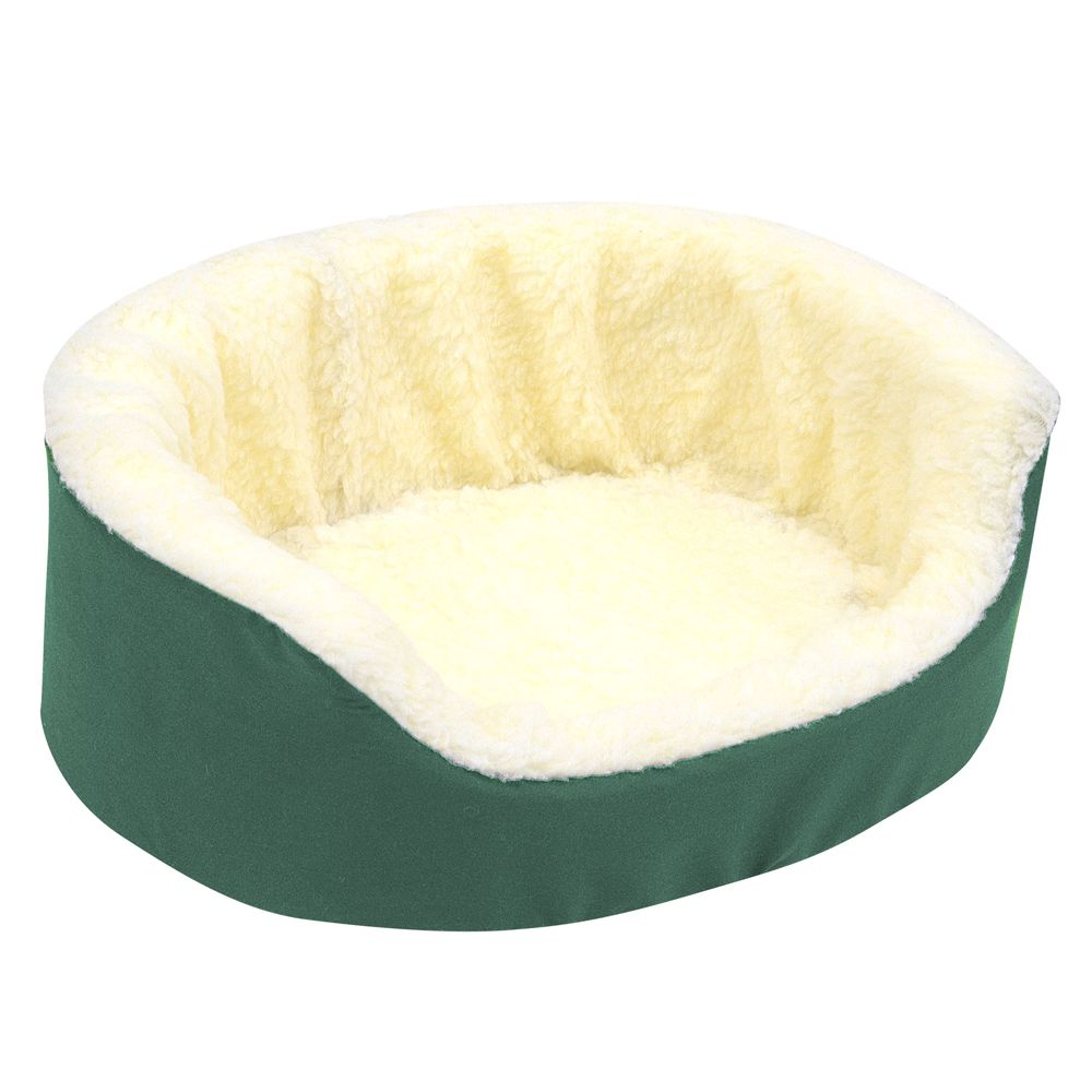 Canine Cushion Orthopedic Fleece Dog Bed Size 21l X 16w Hunter Green