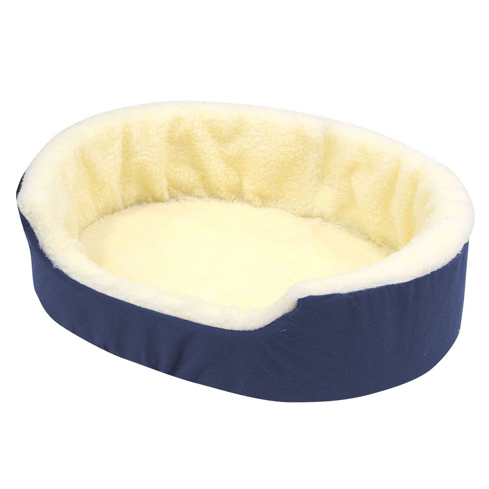 Canine Cushion Orthopedic Fleece Dog Bed Size 28l X 21w Blue