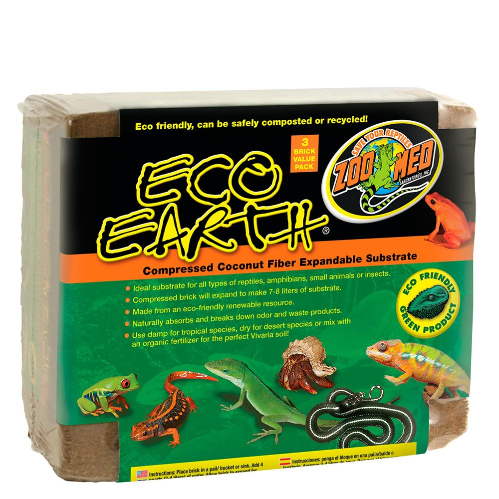 Zoo Med Eco Earth Expandable Reptile Substrate Value Pack