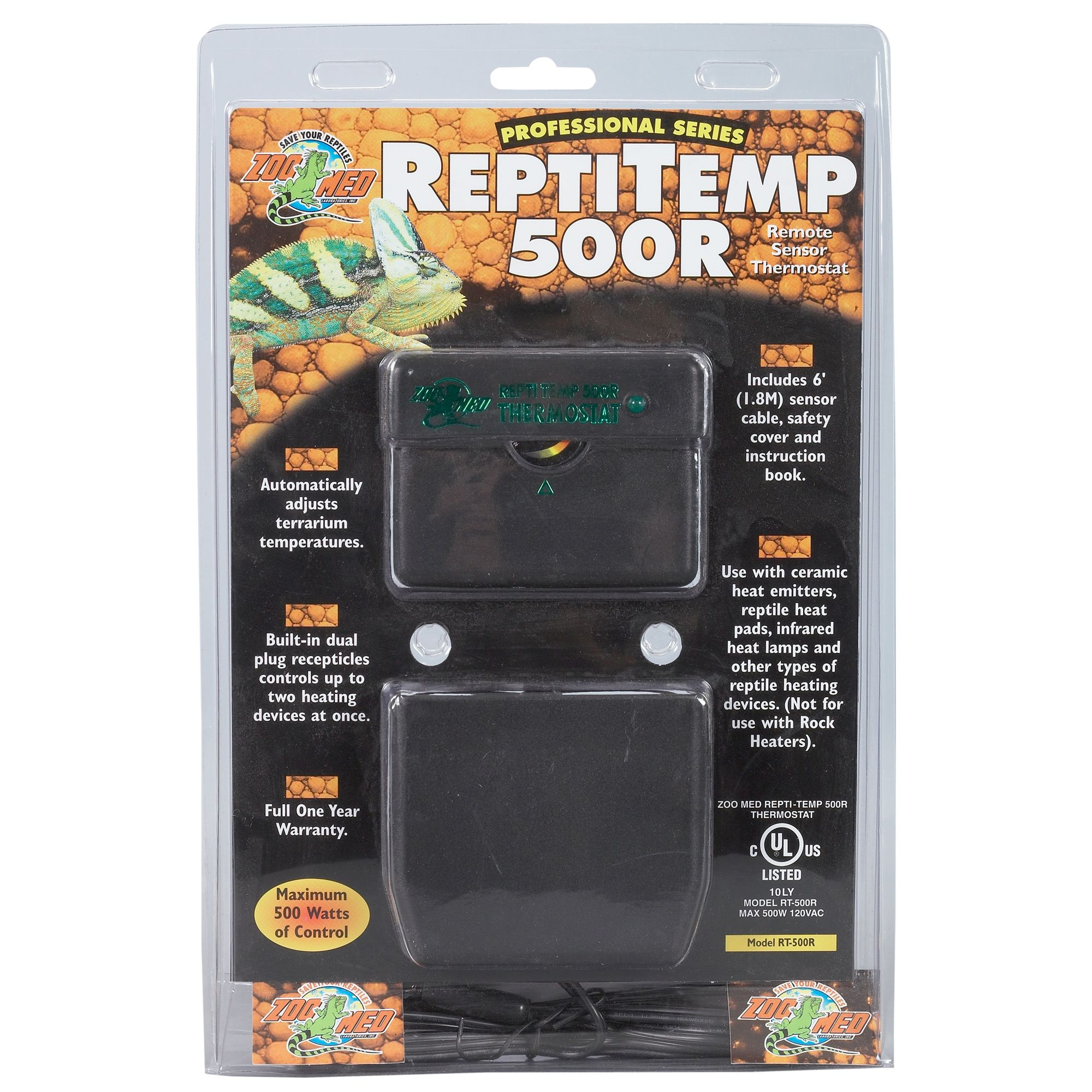 Zoo Med Repti Temp 500R Remote Sensor Thermostat 25221