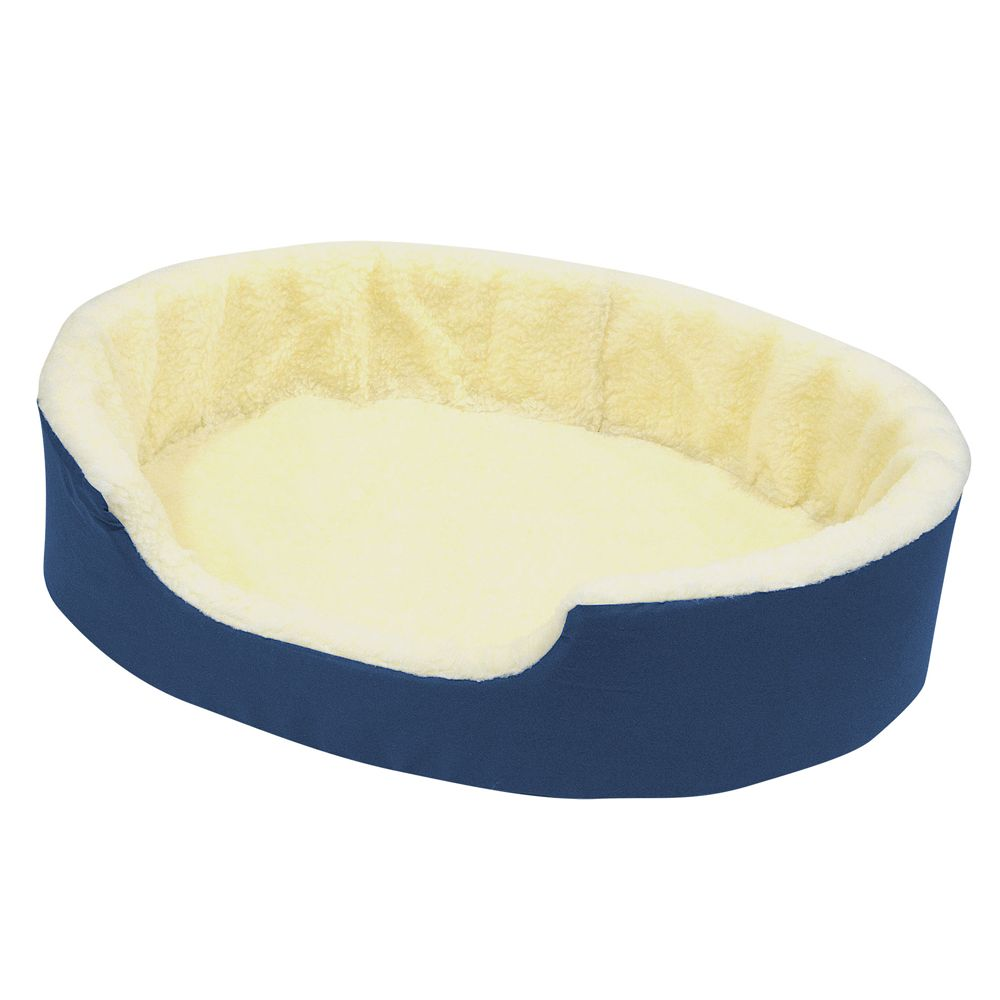 Canine Cushion Orthopedic Fleece Dog Bed Size 36l X 24w Blue