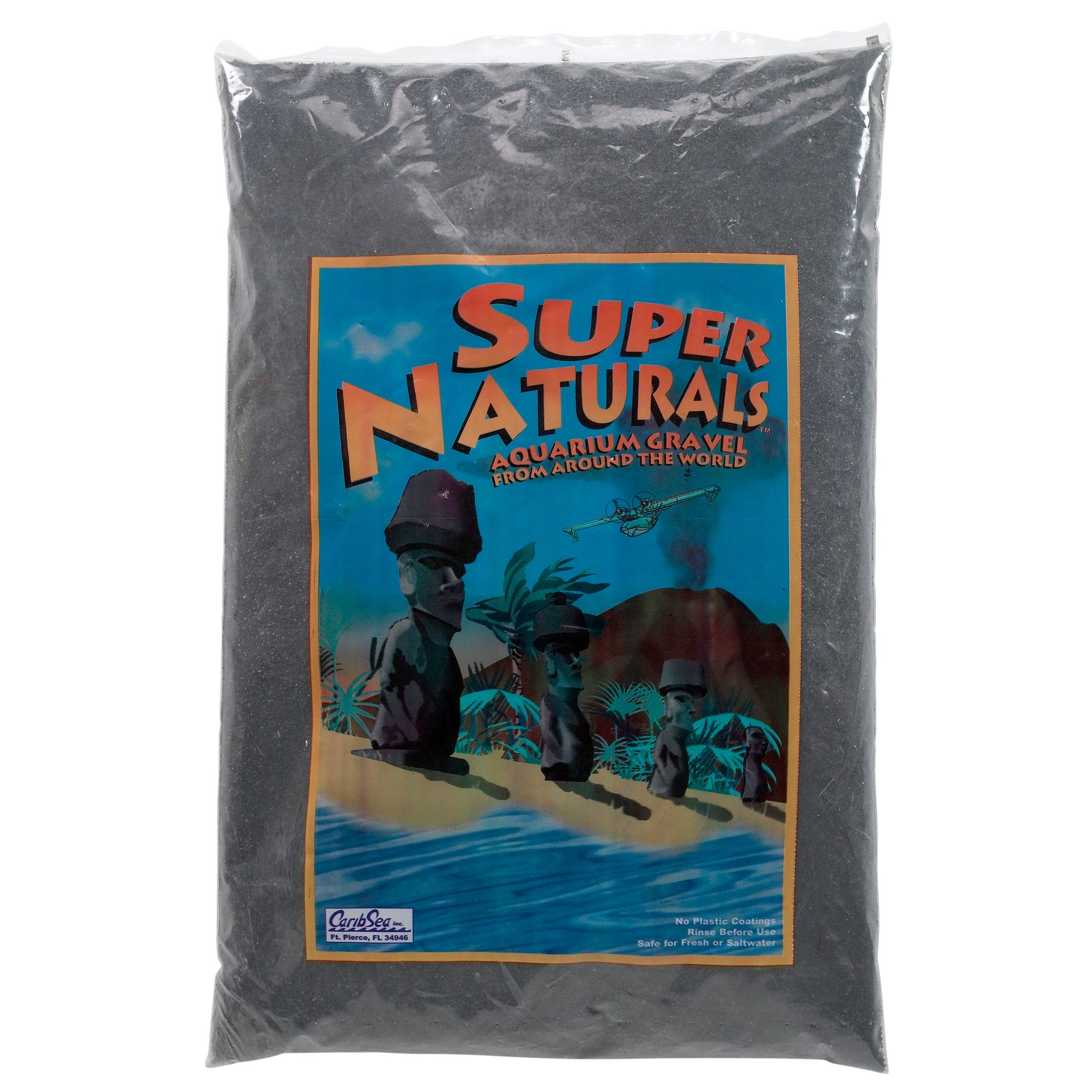 Caribsea Super Naturals Aquarium Gravel Size 20 Lb Black