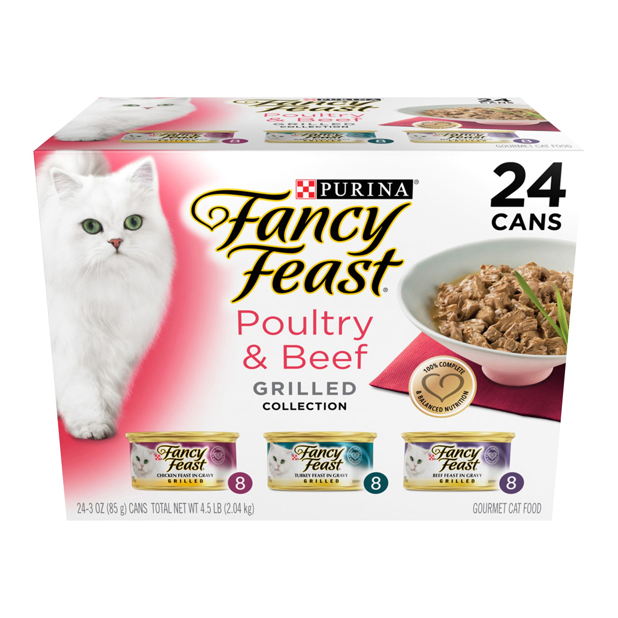 Fancy Feast Grilled Poultry And Beef Feast Variety Pack For Cats Size 4.5 Lb