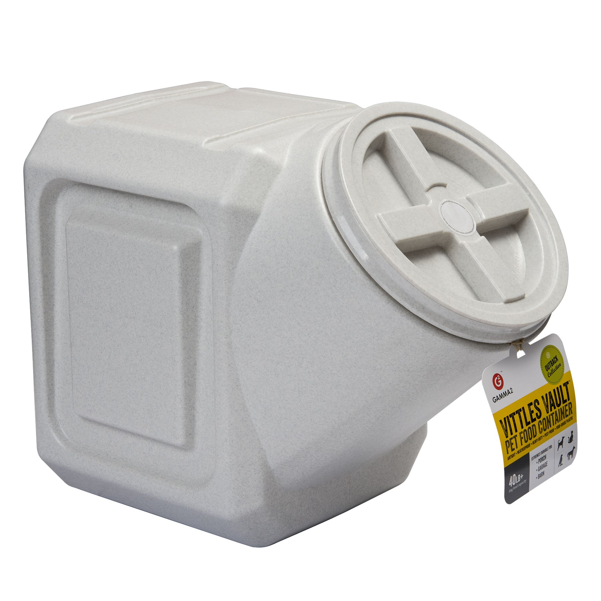 Vittle Vault Stackable Pet Food Container Size 40 Lb White