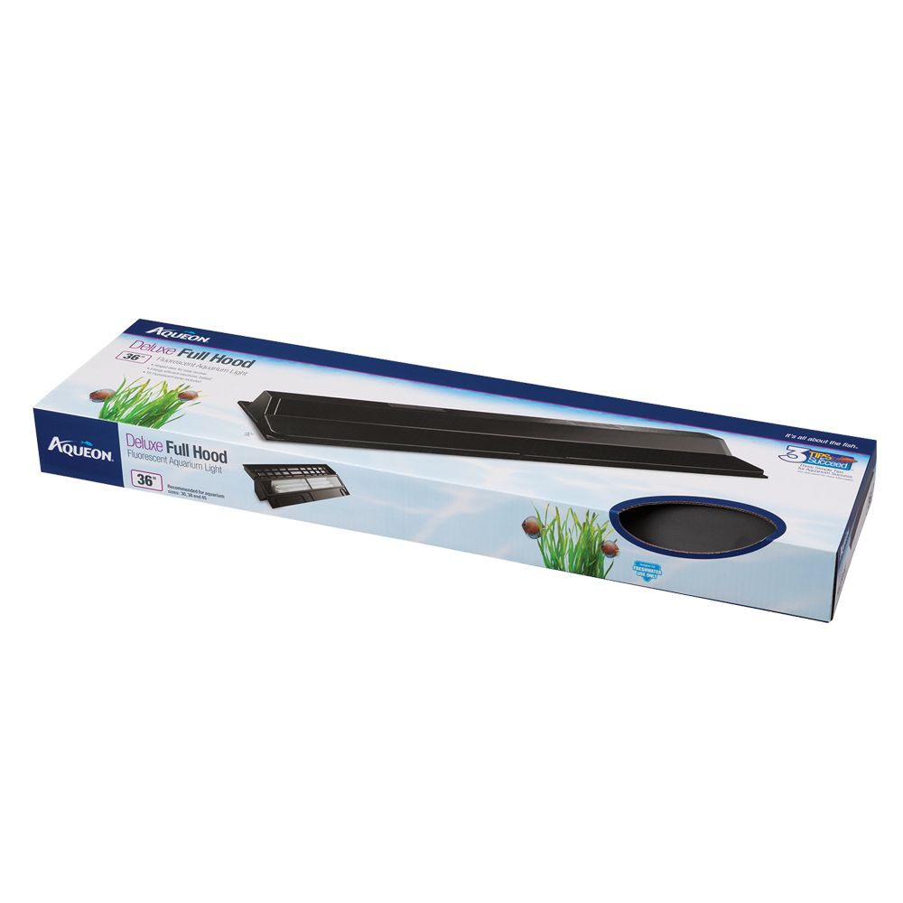 Aqueon Aquarium Deluxe Fluorescent Hood All Glass