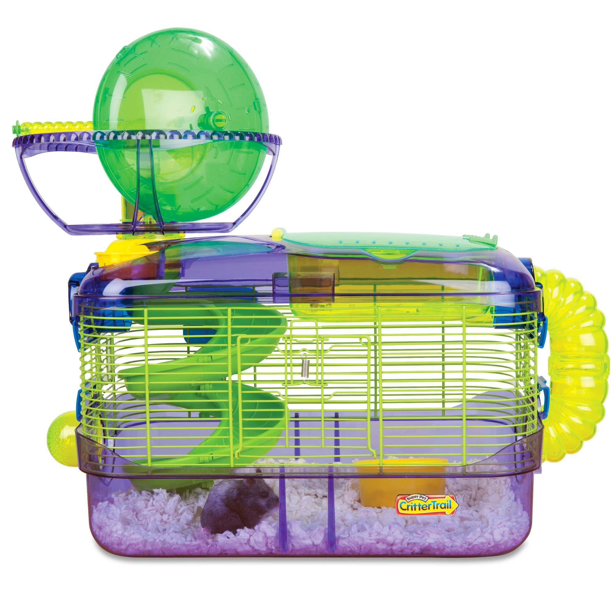Wire and plastic hamster cage