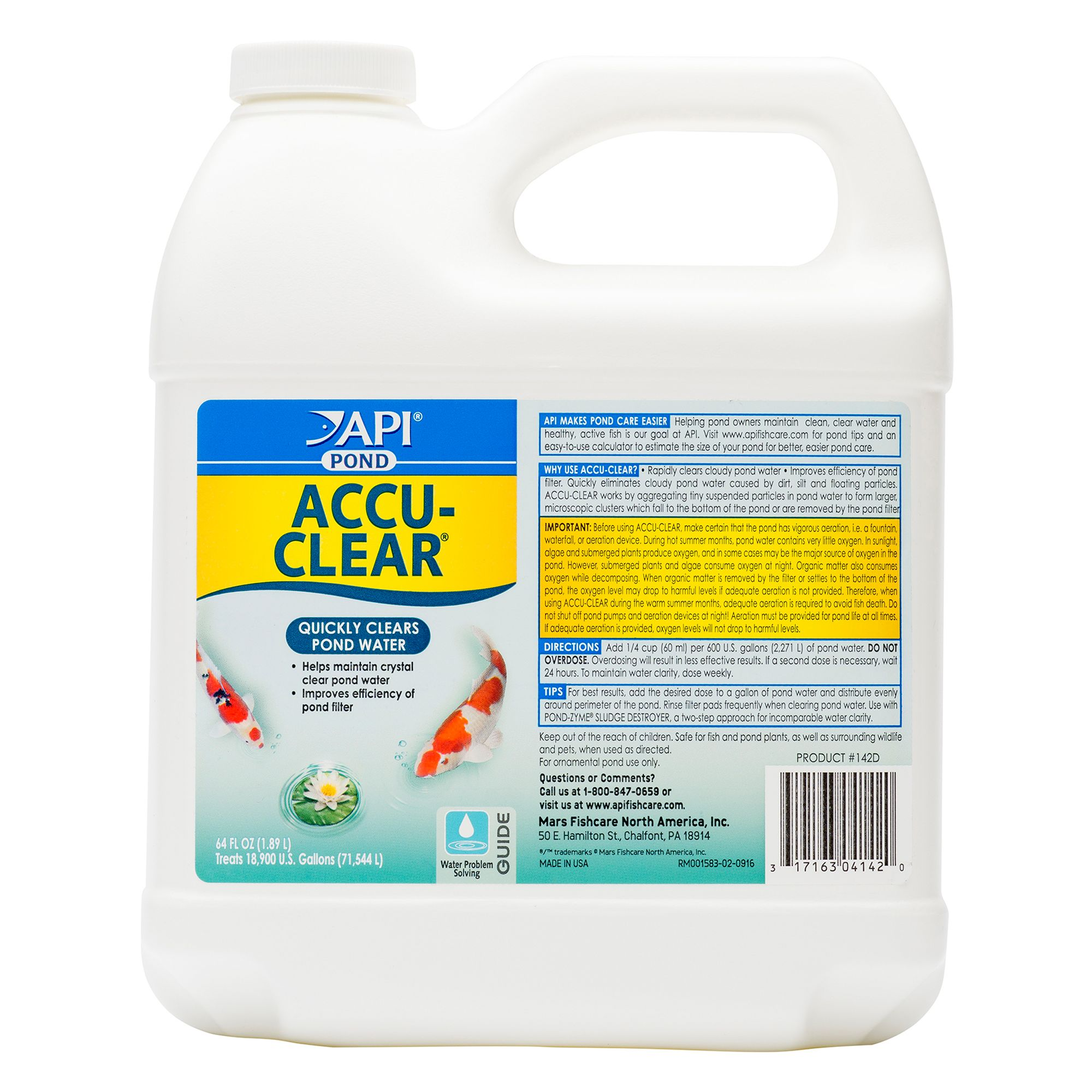 Api Accu Clear Clarifier Pond Water Conditioner Size 64 Fl Oz