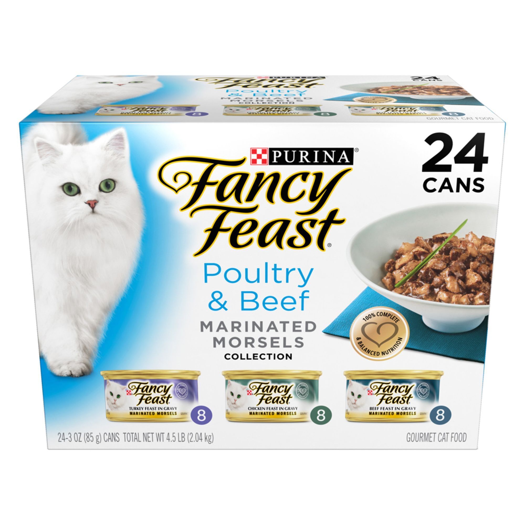 Fancy Feast Marinated Morsels Poultry And Beef Variety Pack For Cats Size 4.5 Lb