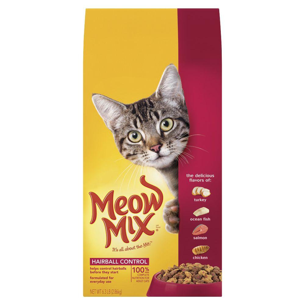 Meow Mix Hairball Control Formula Cat Food size: 6.3 Lb 5071307