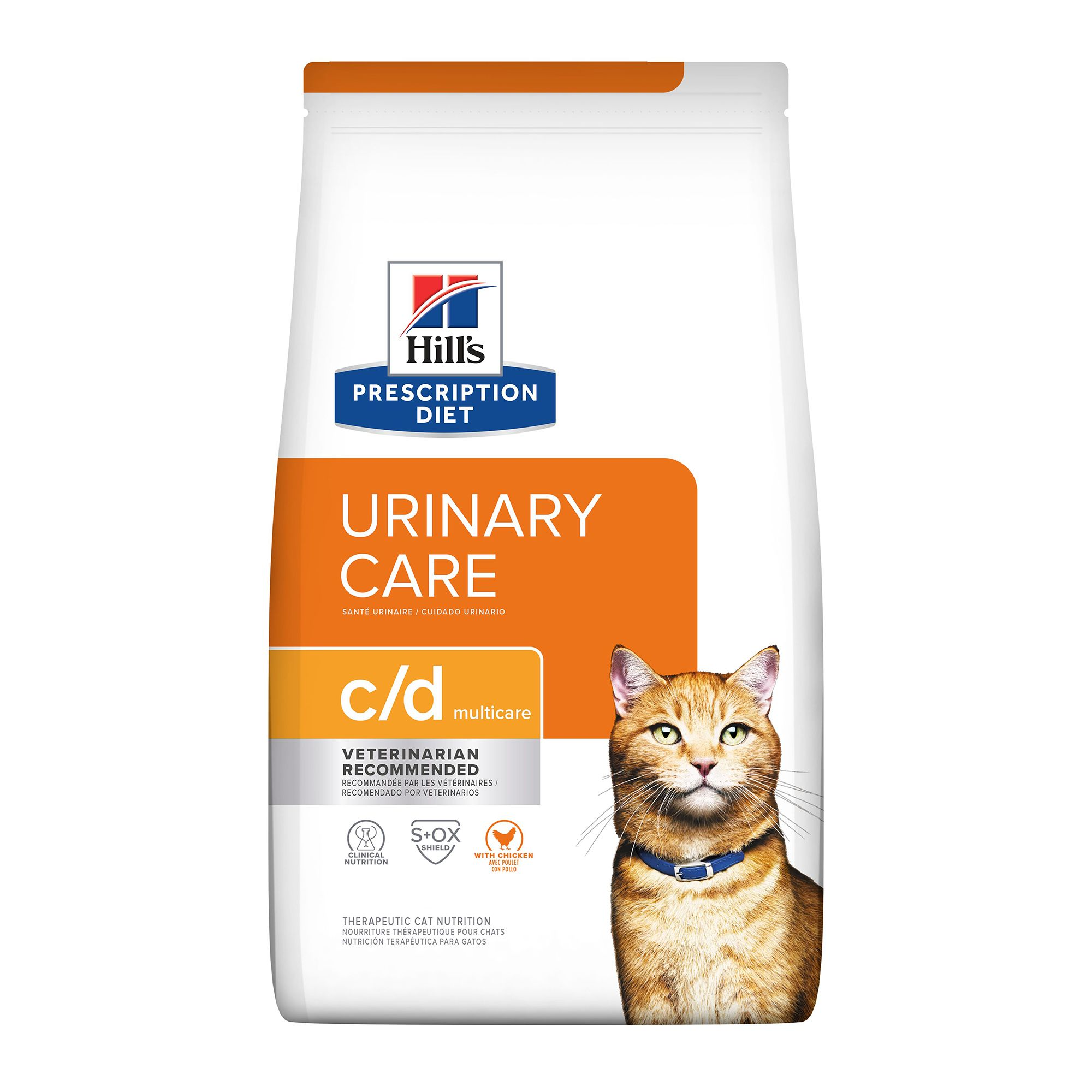 Hill's Prescription Diet c/d Multicare Bladder Health Adult Cat Food size: 4 Lb 5071879