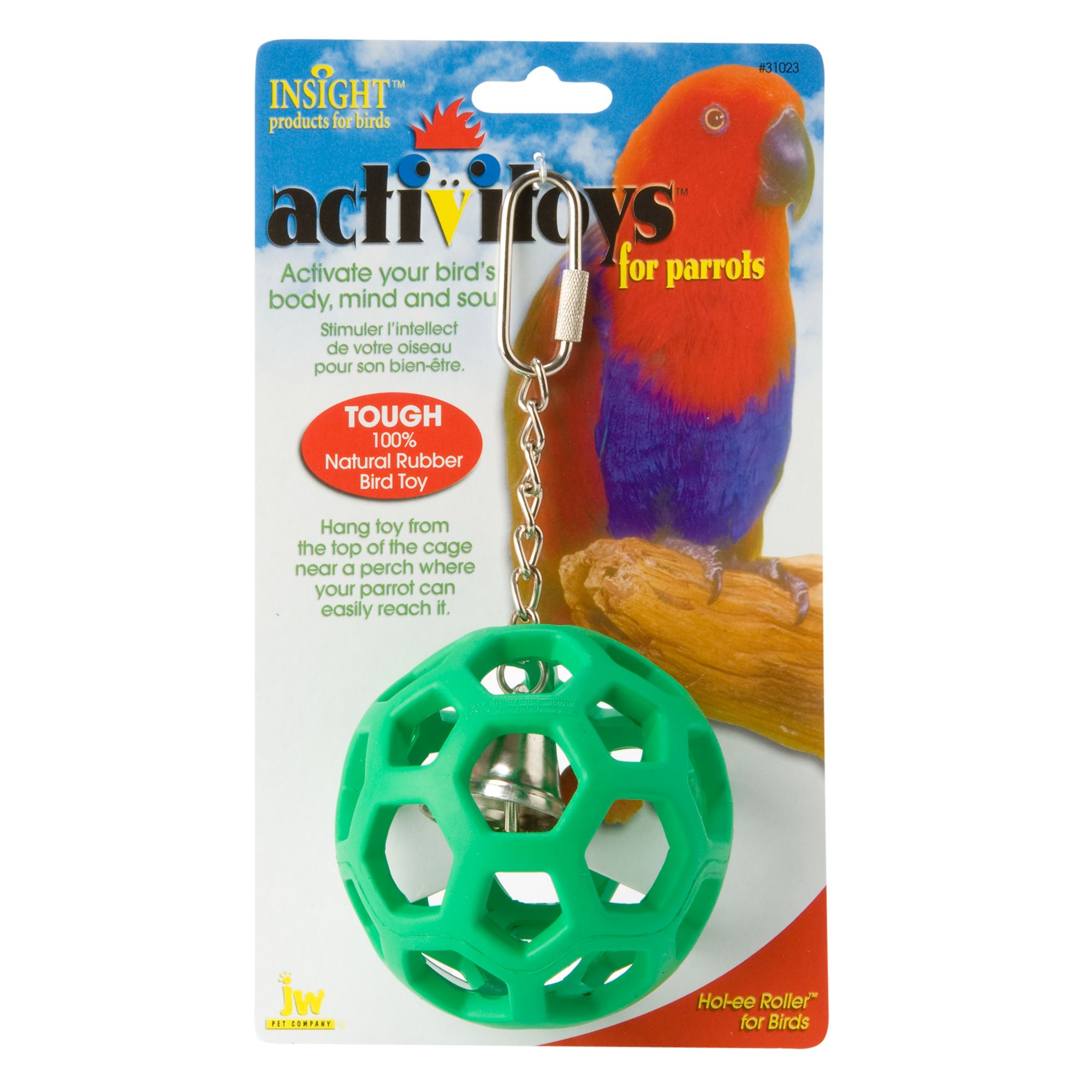 JW Pet Insight Activitoys Hol-ee Roller Bird Toy size: Small/Medium/Large 5072327