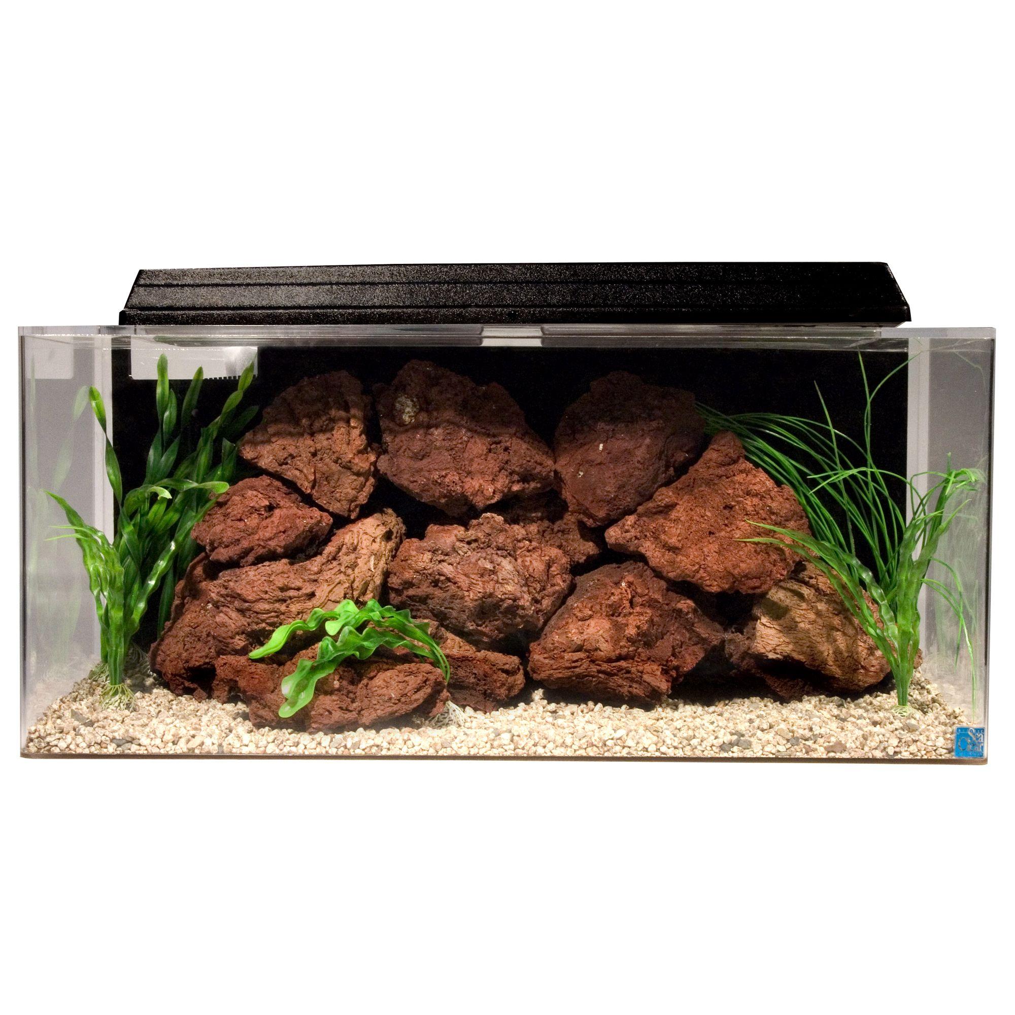 Seaclear 30 Gallon System Ii Rectangle Aquarium Size 30 Gal Black