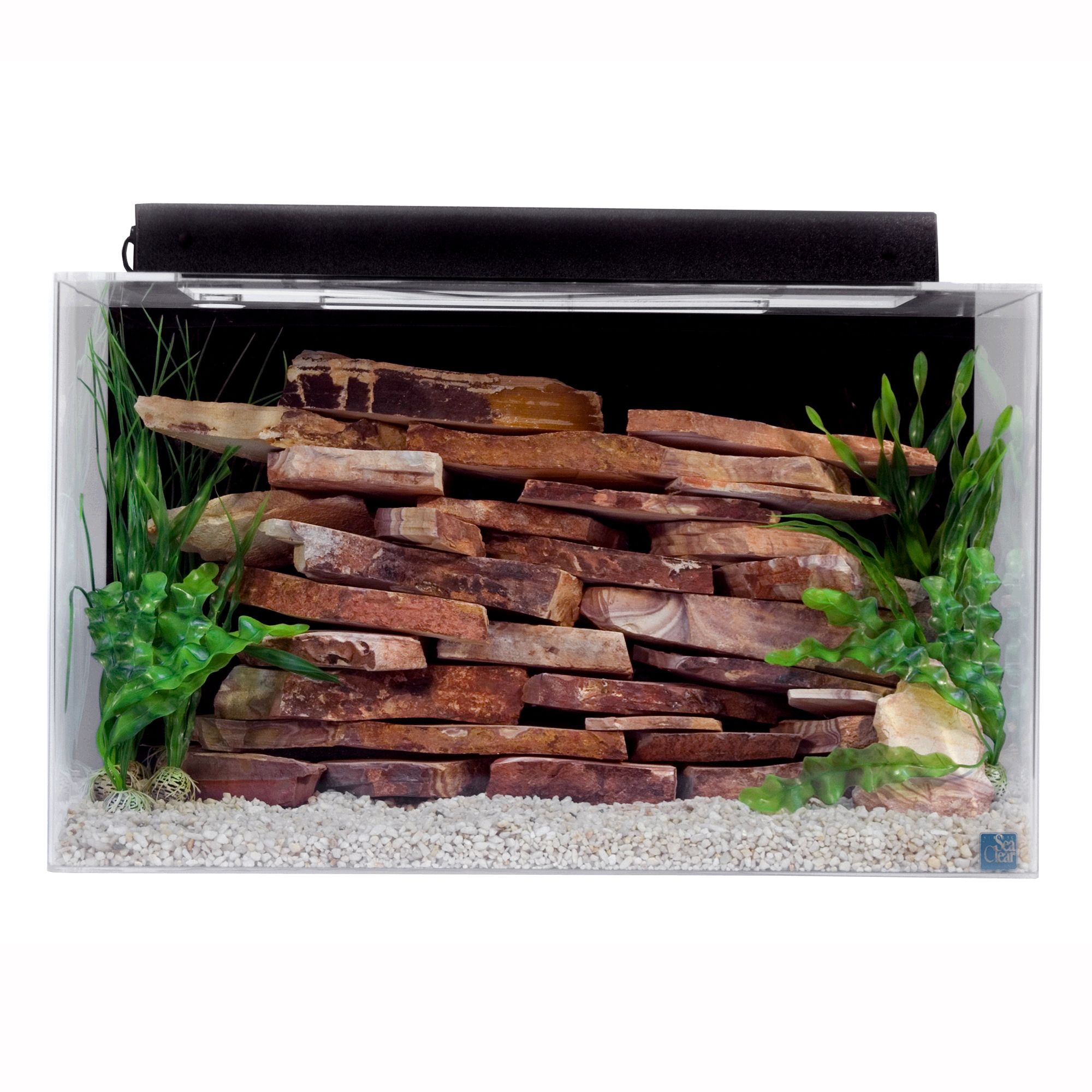SeaClear 29 Gallon Show Tank size: 29 Gal, Black, North American Pet Products 5073955