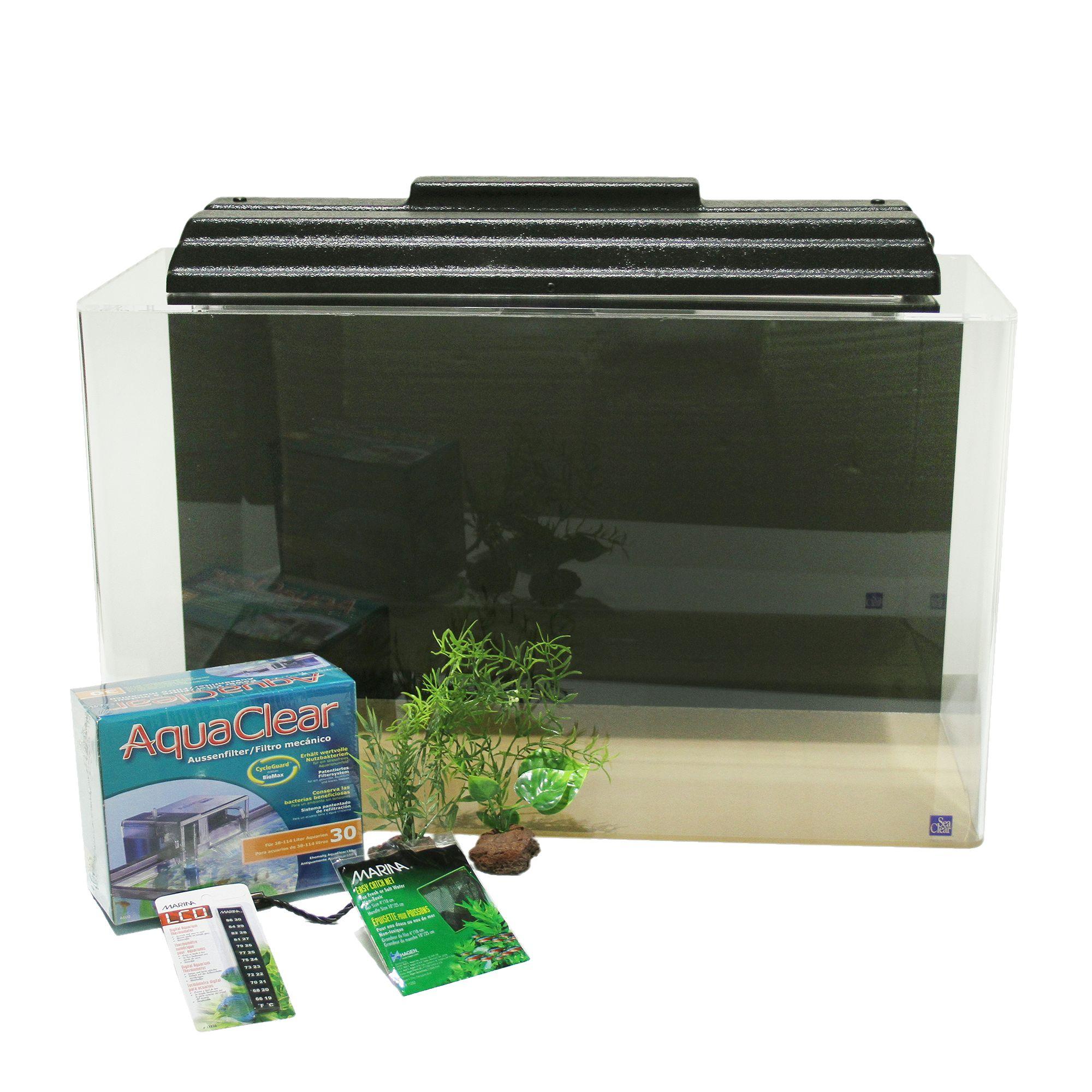 Seaclear Show Tank 29 Gallon Aquarium Kit Size 29 Gal Black