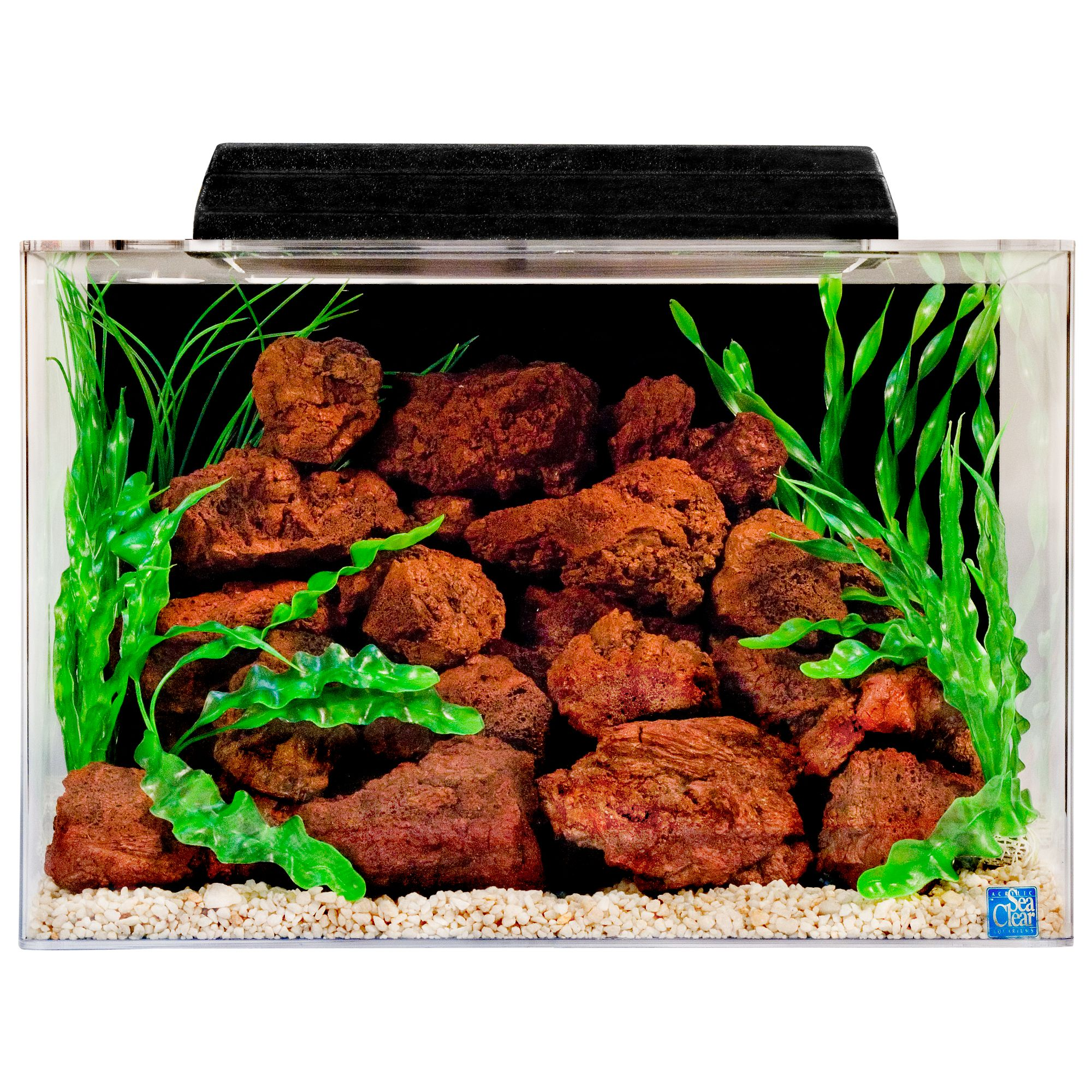 SeaClear 20 Gallon Aquarium and Hood size: 20 Gal, Black, North American Pet Products 5074025