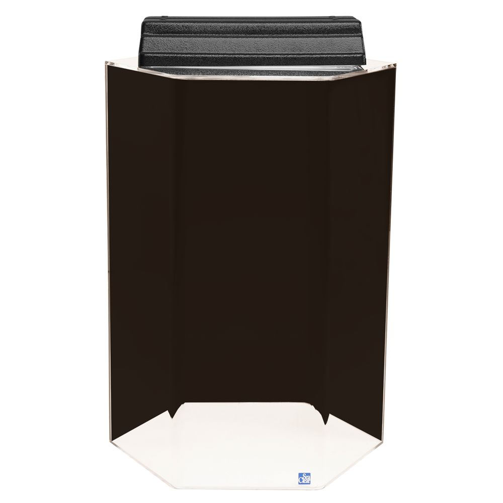 SeaClear 20 Gallon Hexagon Tank size: 20 Gal, Black, North American Pet Products 5074028