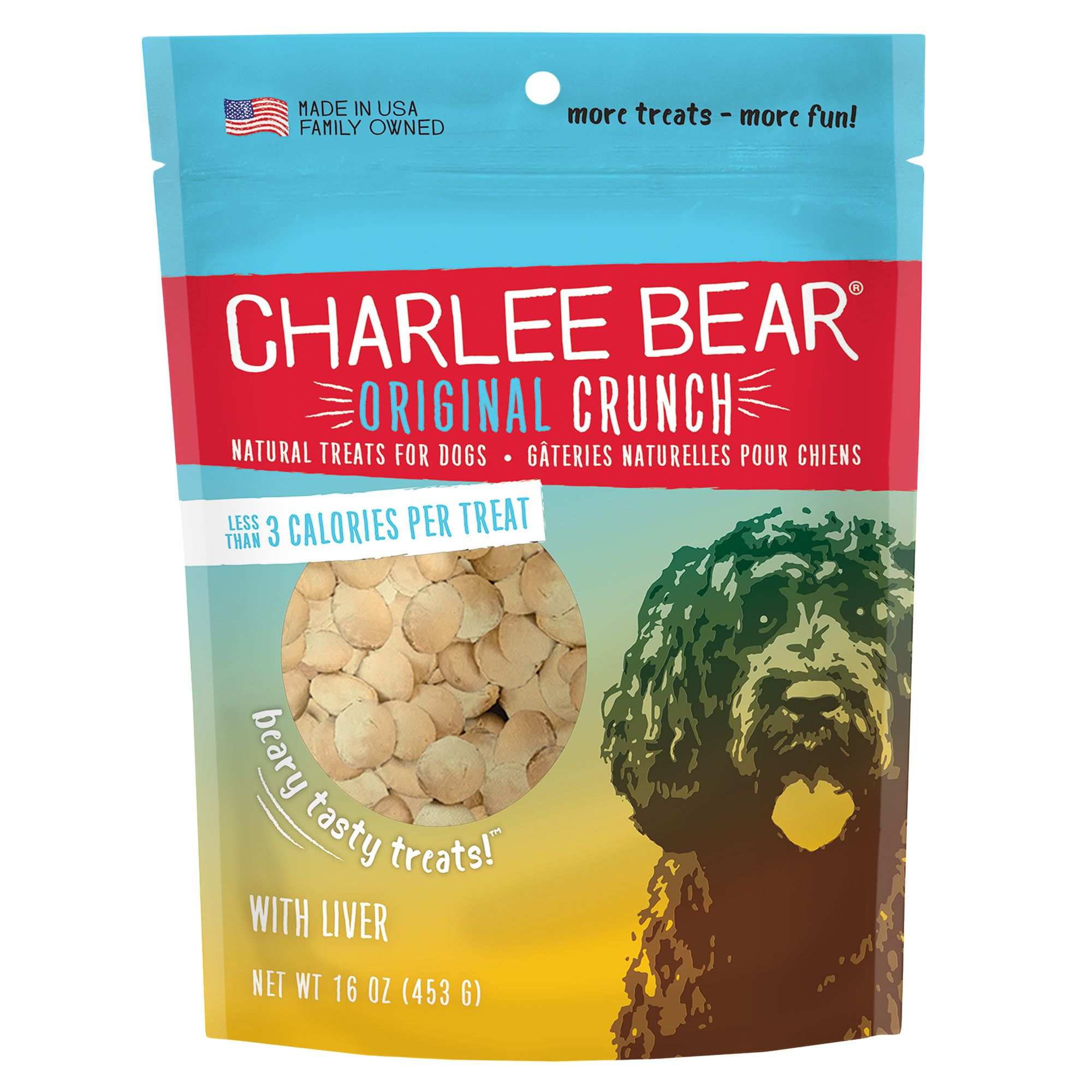 Charlee Bear All Natural Dog Treat Size 16 Oz