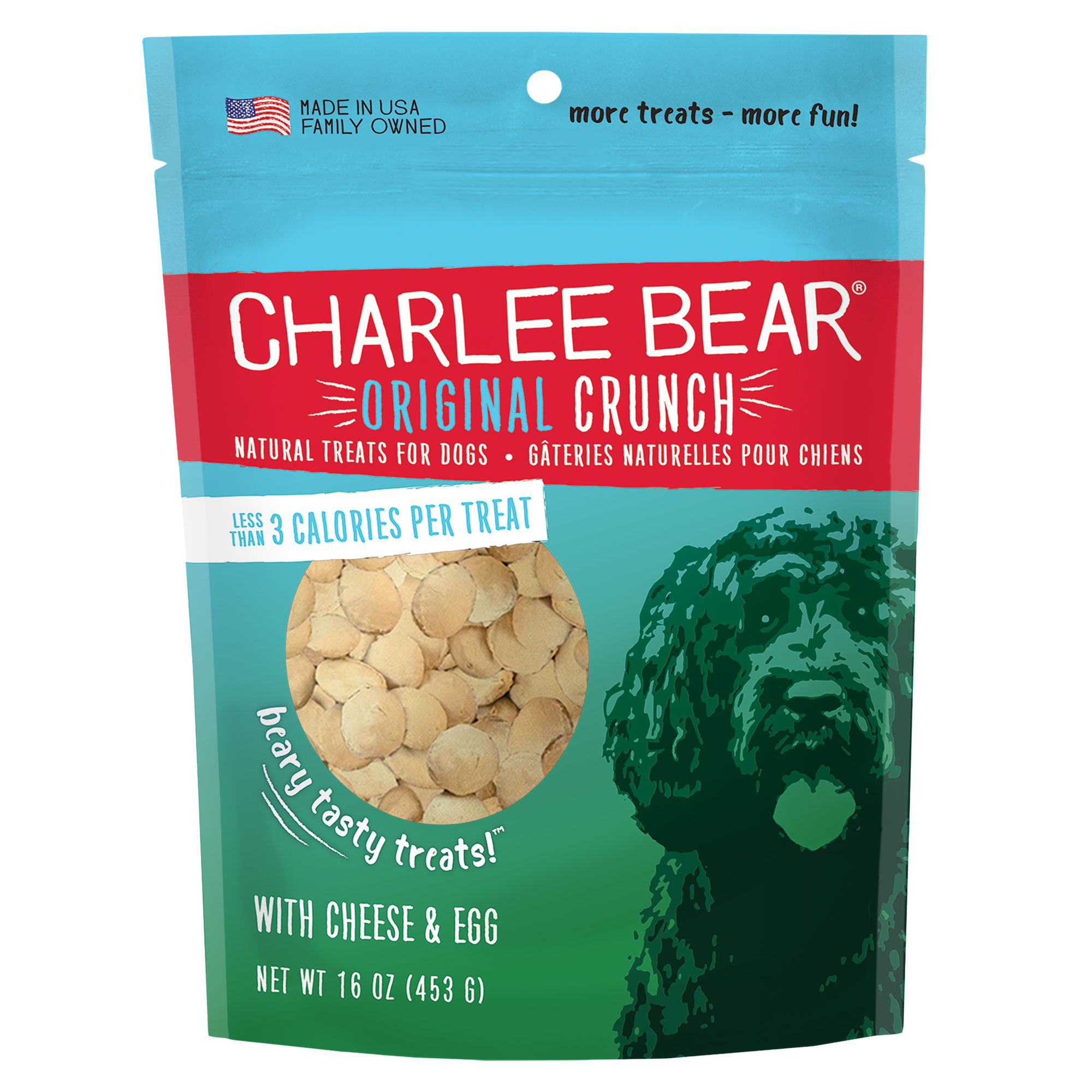 Charlee Bear All Natural Dog Treat size: 16 Oz, Cheese and Egg, Adult, Durham Wheat