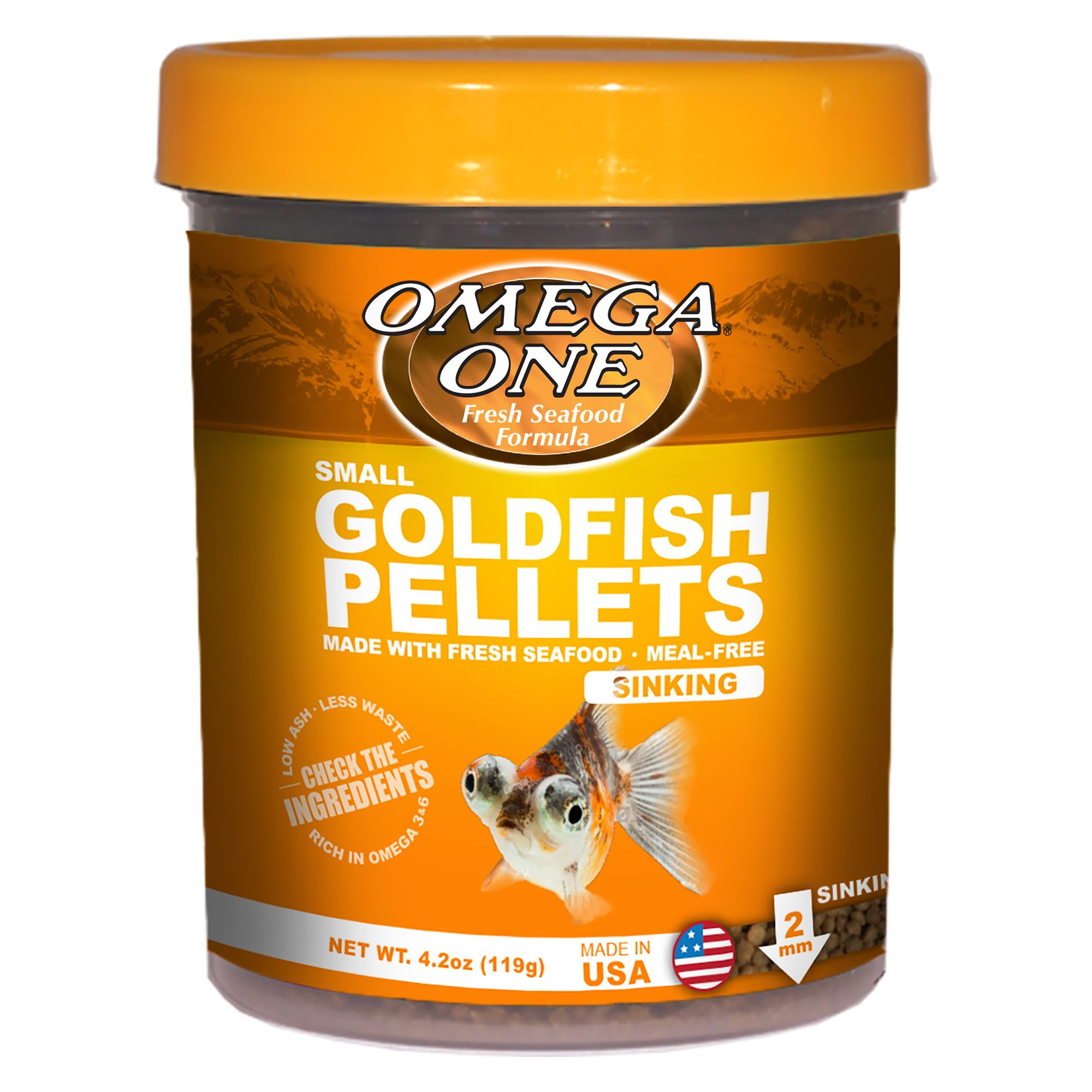 698220023611 upc omega one goldfish small sinking for Betta fish food walmart