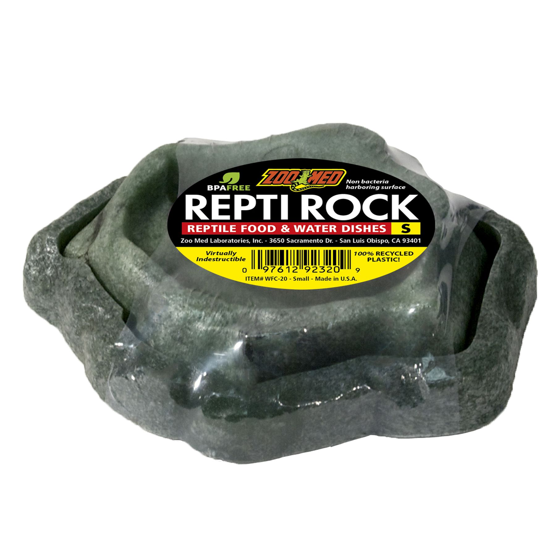 Zoo Med, Repti Rock Water Food Dish Combo size: X Small 5081093
