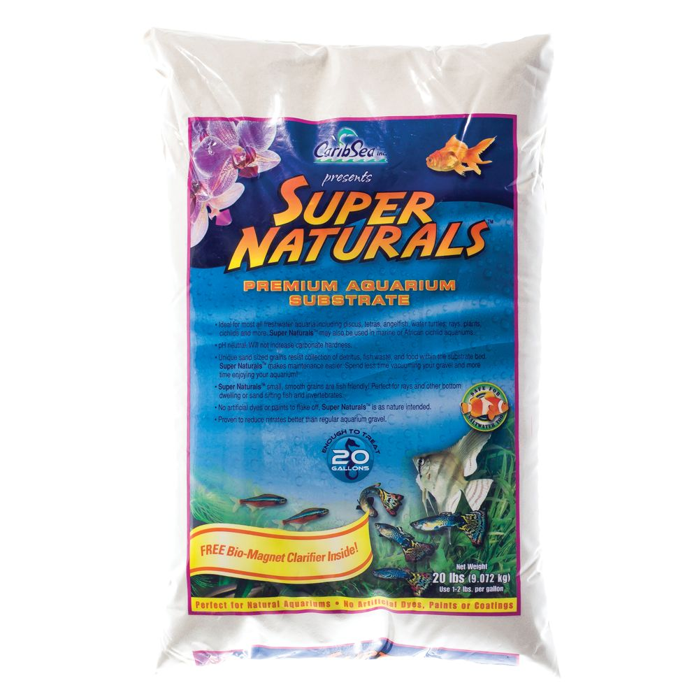 Caribsea Super Naturals Aquarium Gravel Size 20 Lb White