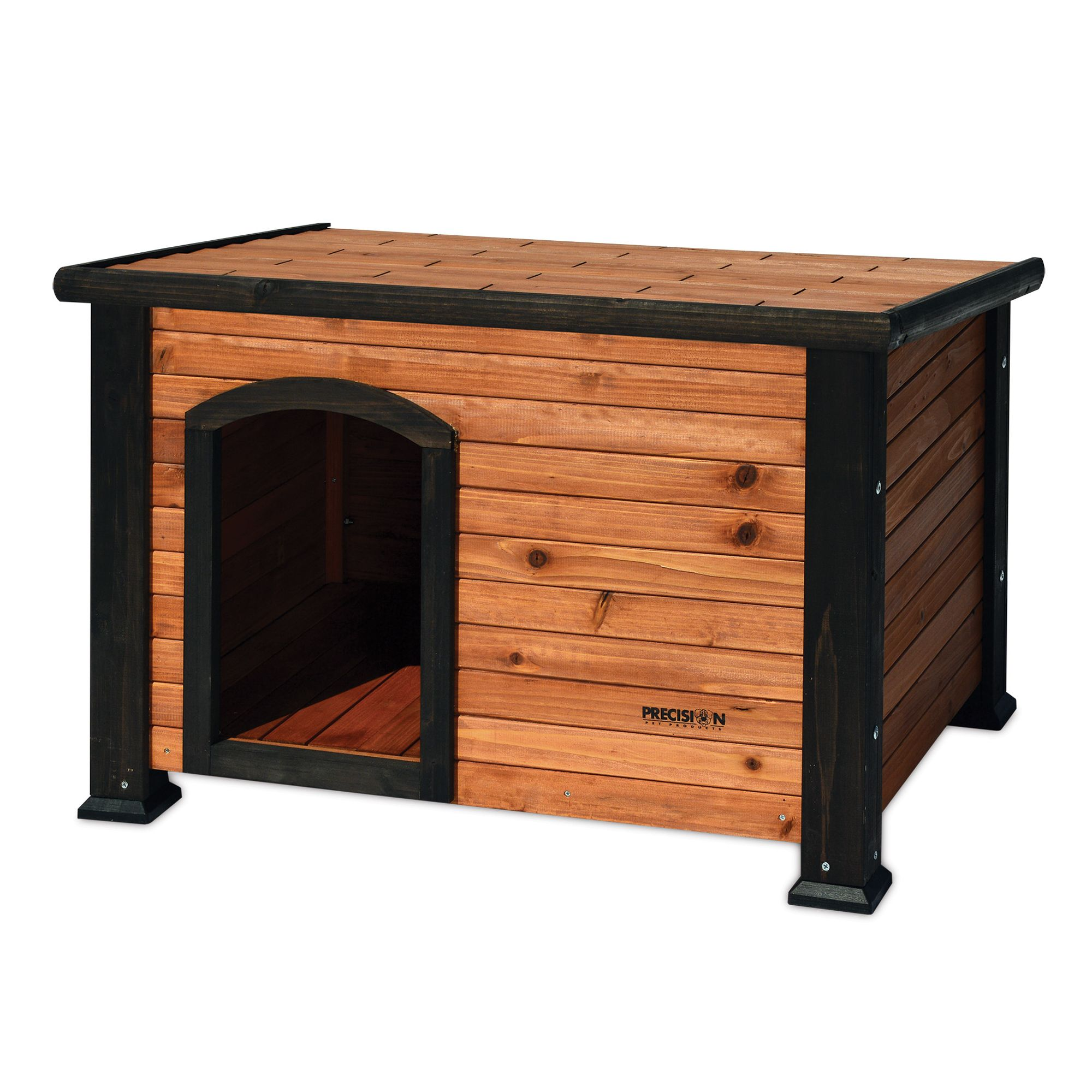 "Precision Pet Outback Log Cabin Dog House size: 45.5""L x 33""W x 33""H, Brown 5083107"