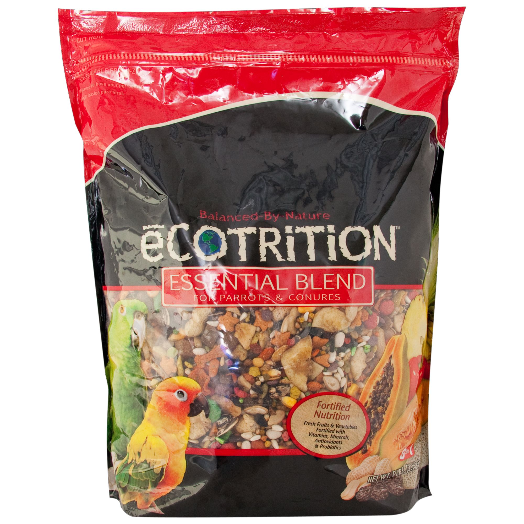 Ecotrition Esential Blend Parrot Bird Food Size 5 Lb