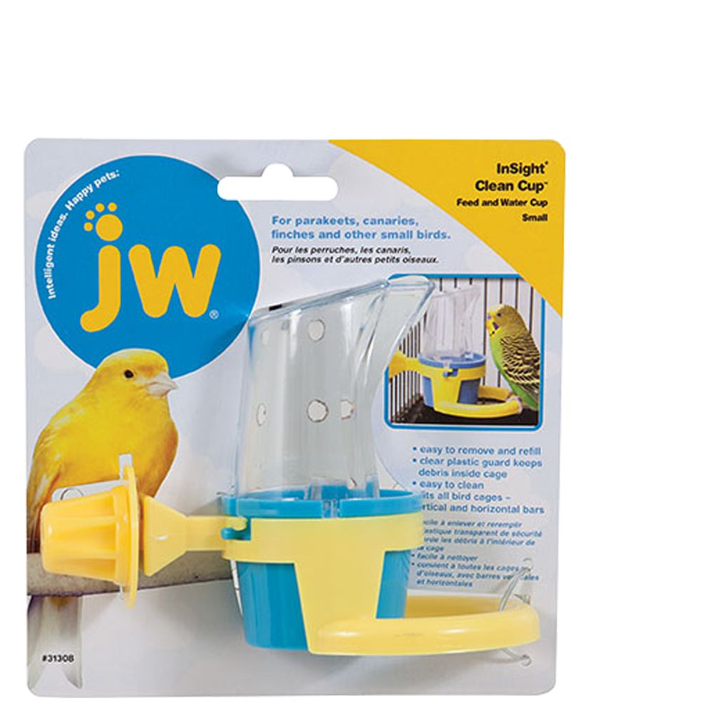 JW Pet Insight Clean Cup Feed and Water Bird Cup size: Small 5083409