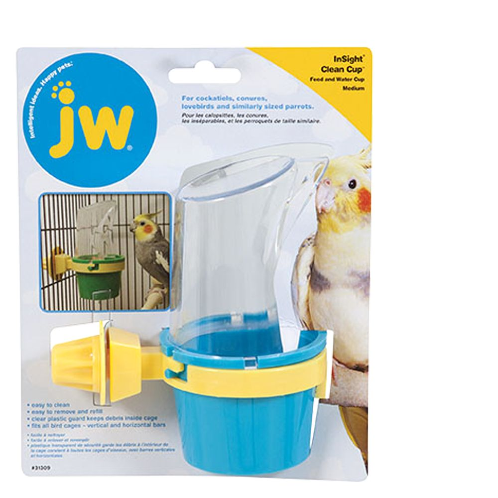 JW Pet Insight Clean Cup Feed and Water Bird Cup size: Medium 5083420