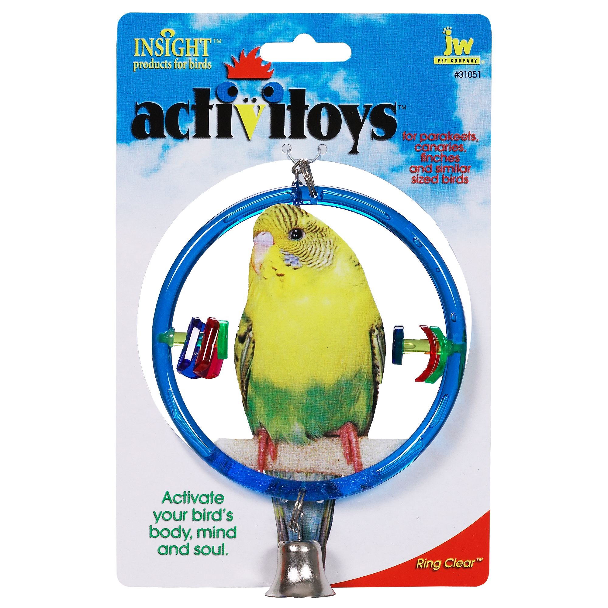 JW Pet Insight Activitoys Ring Clear Bird Toy 5083903