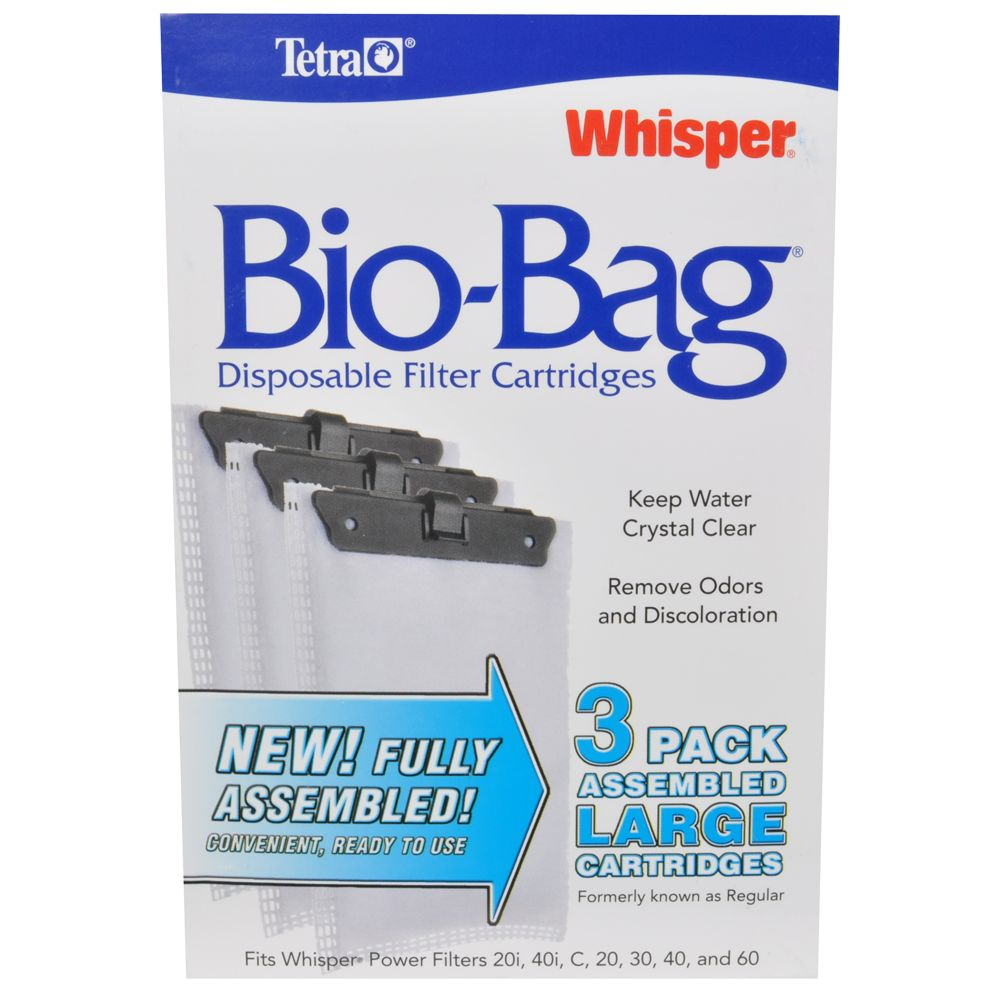 Tetra® Whisper Bio-Bag Disposable Filter Cartiridge size: 3 Count 5084963