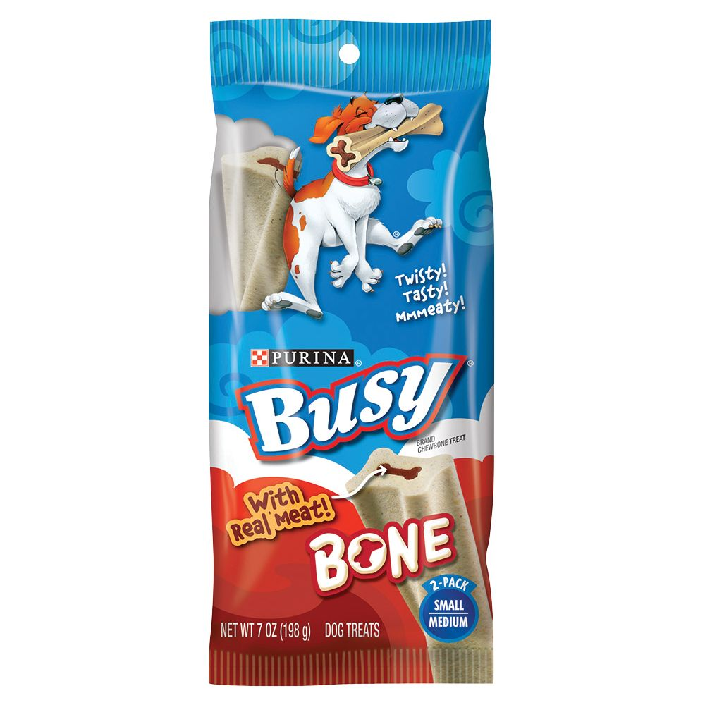 Purina Busy Bone Small/medium Dog Treat Beef Size 2 Count