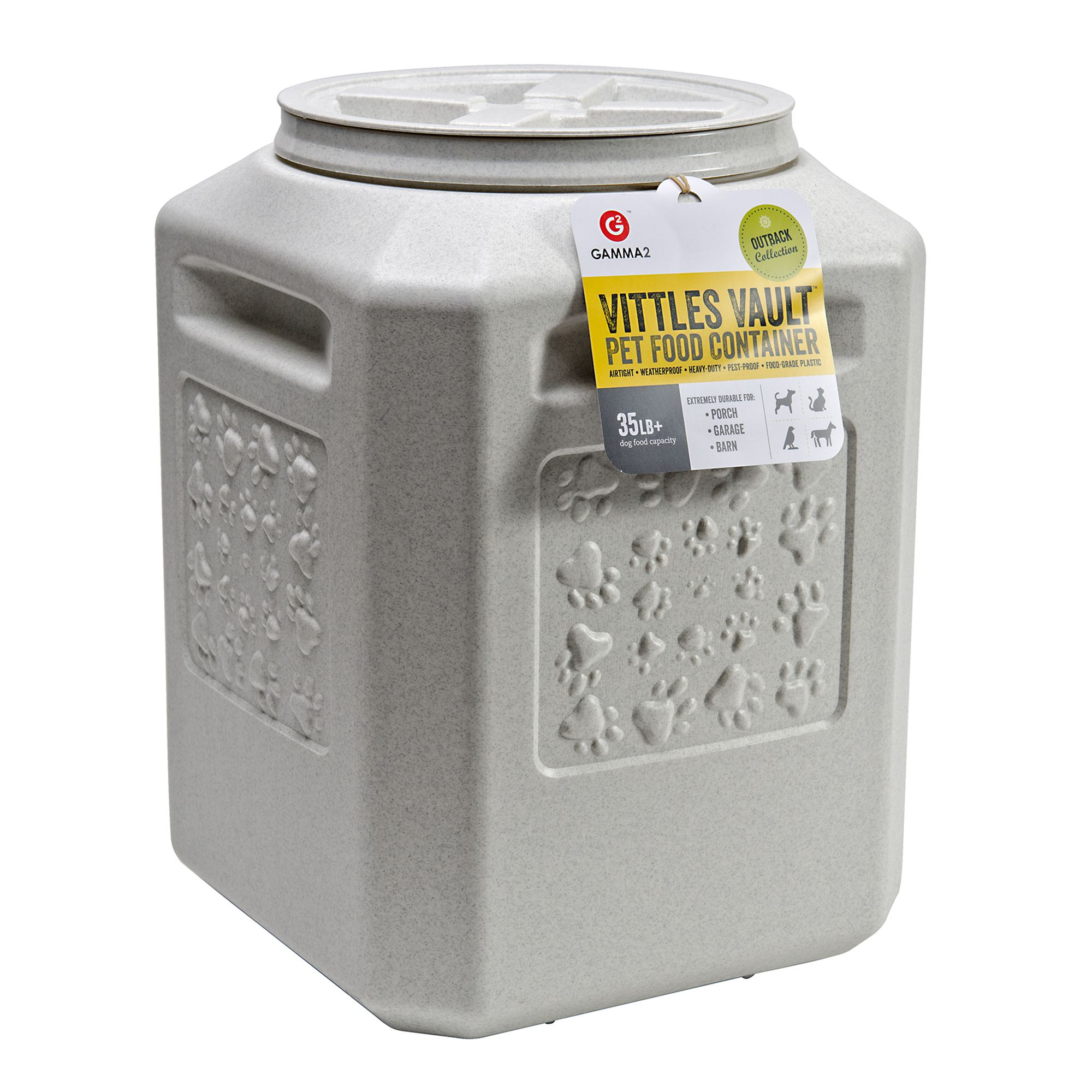 Vittle Vault Pet Food Container Size 35 Lb White